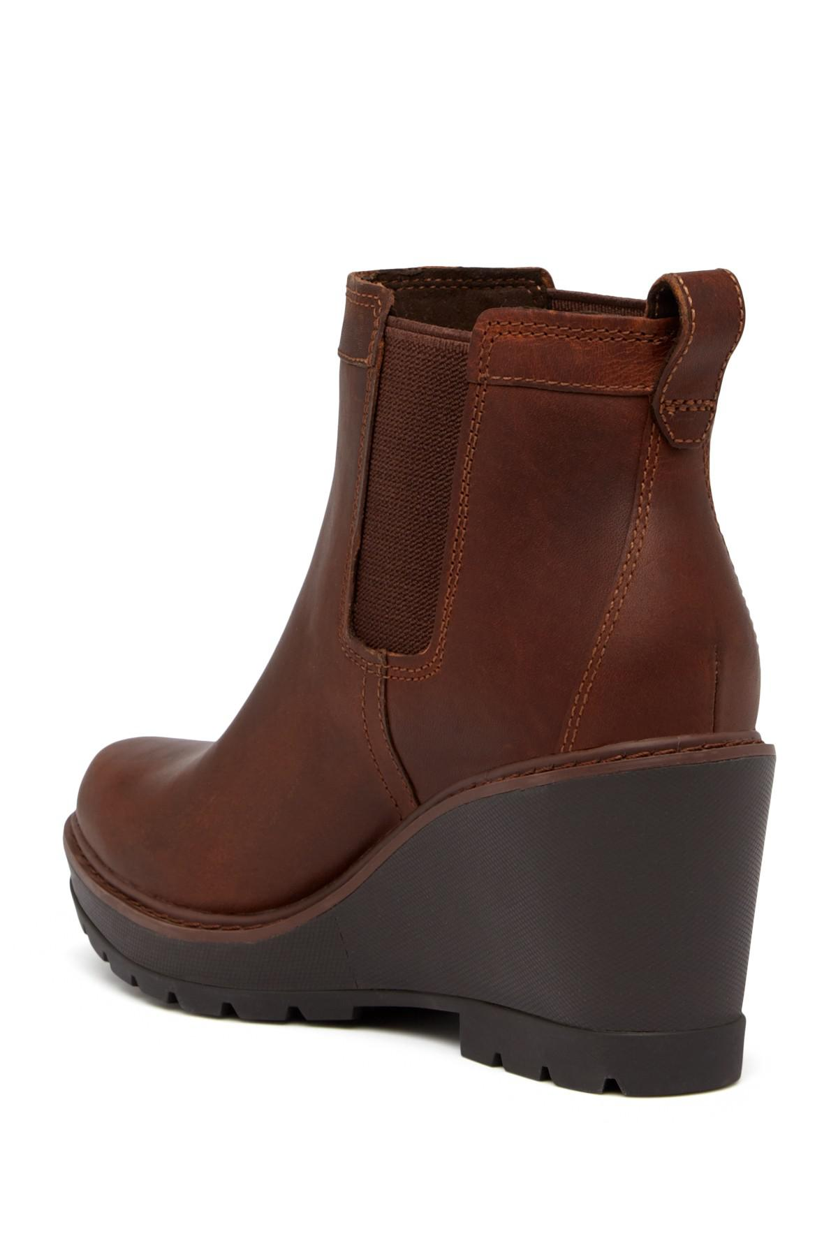 7f5a8a101 Timberland - Brown Kellis Double Gore Chelsea Leather Wedge Boot - Lyst.  View fullscreen