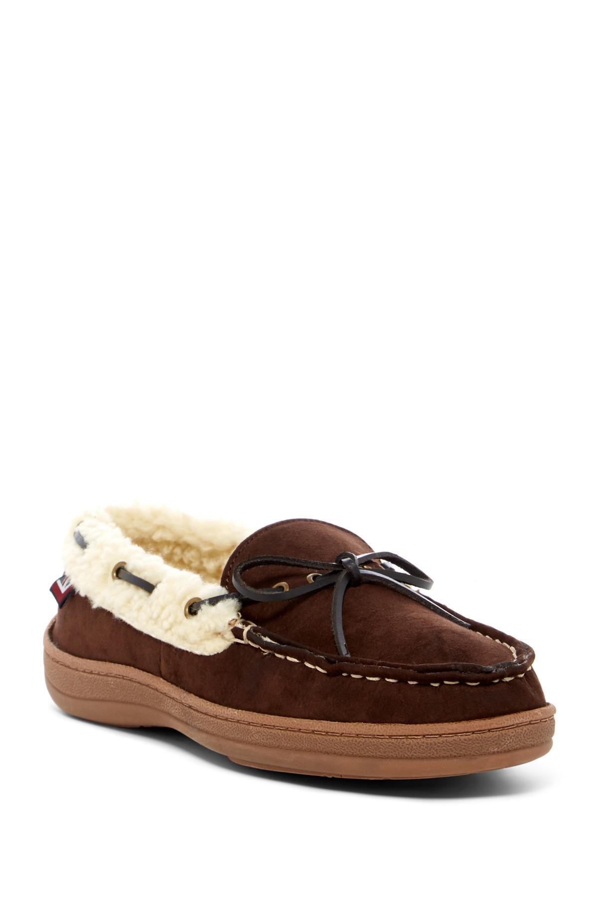Ben Sherman Milton Faux Shearling Moccasin Mens Tan Brown Deck Casual Boat Shoes