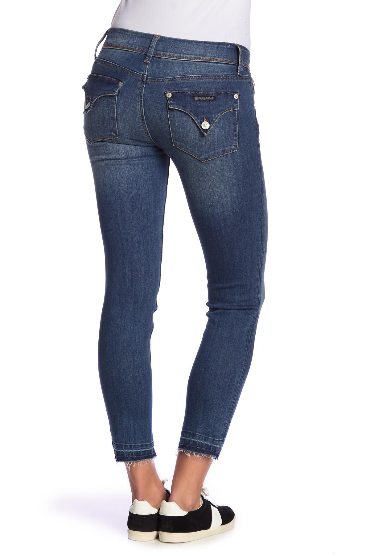 Hudson Collin Flap Skinny Ankle Jeans Distressed White 25 /&  26  NEW $189