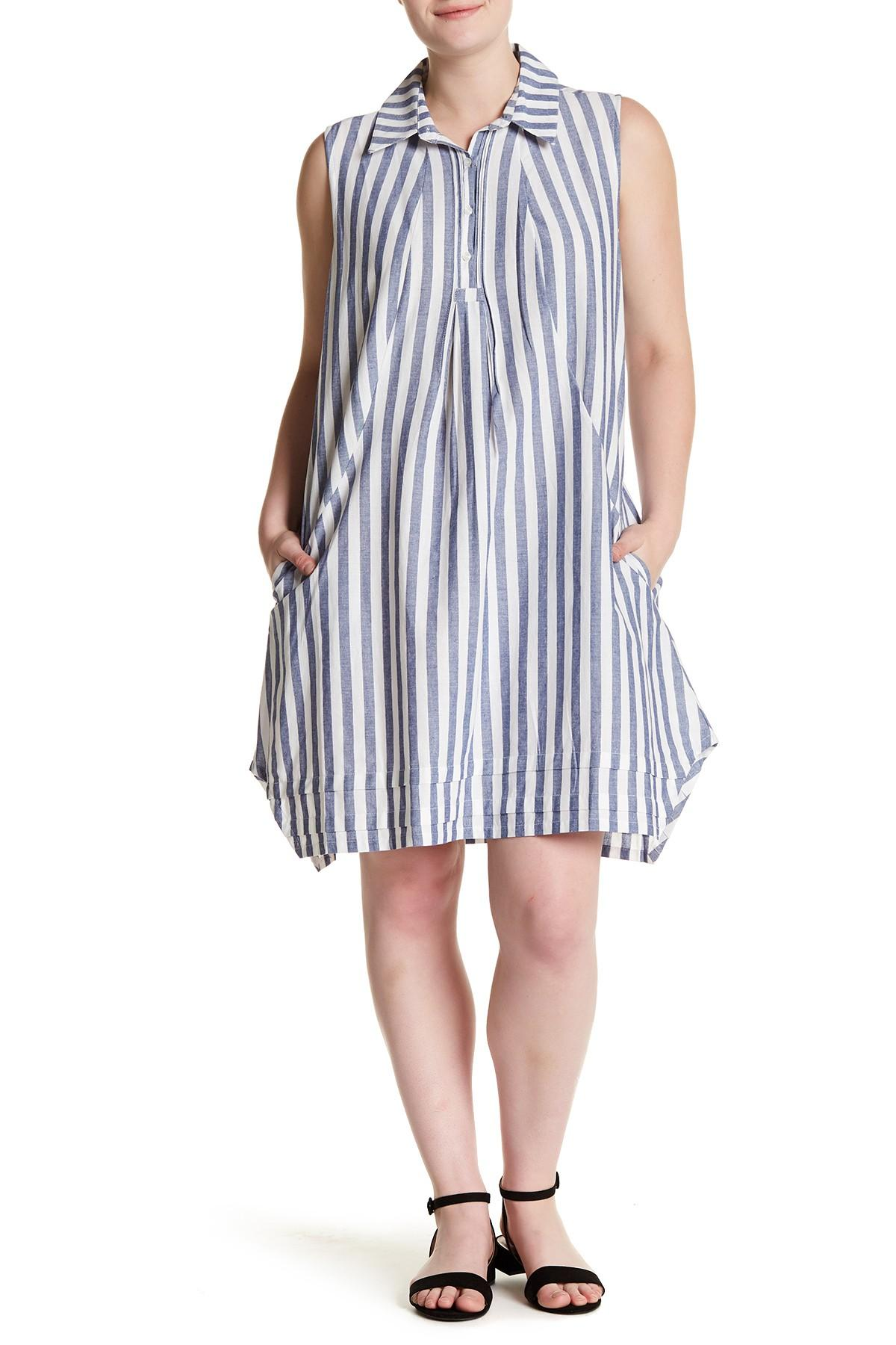 c7efd65cfc3 Sharagano. Women s Blue Striped Chambray Dress (plus Size).  40 From Nordstrom  Rack