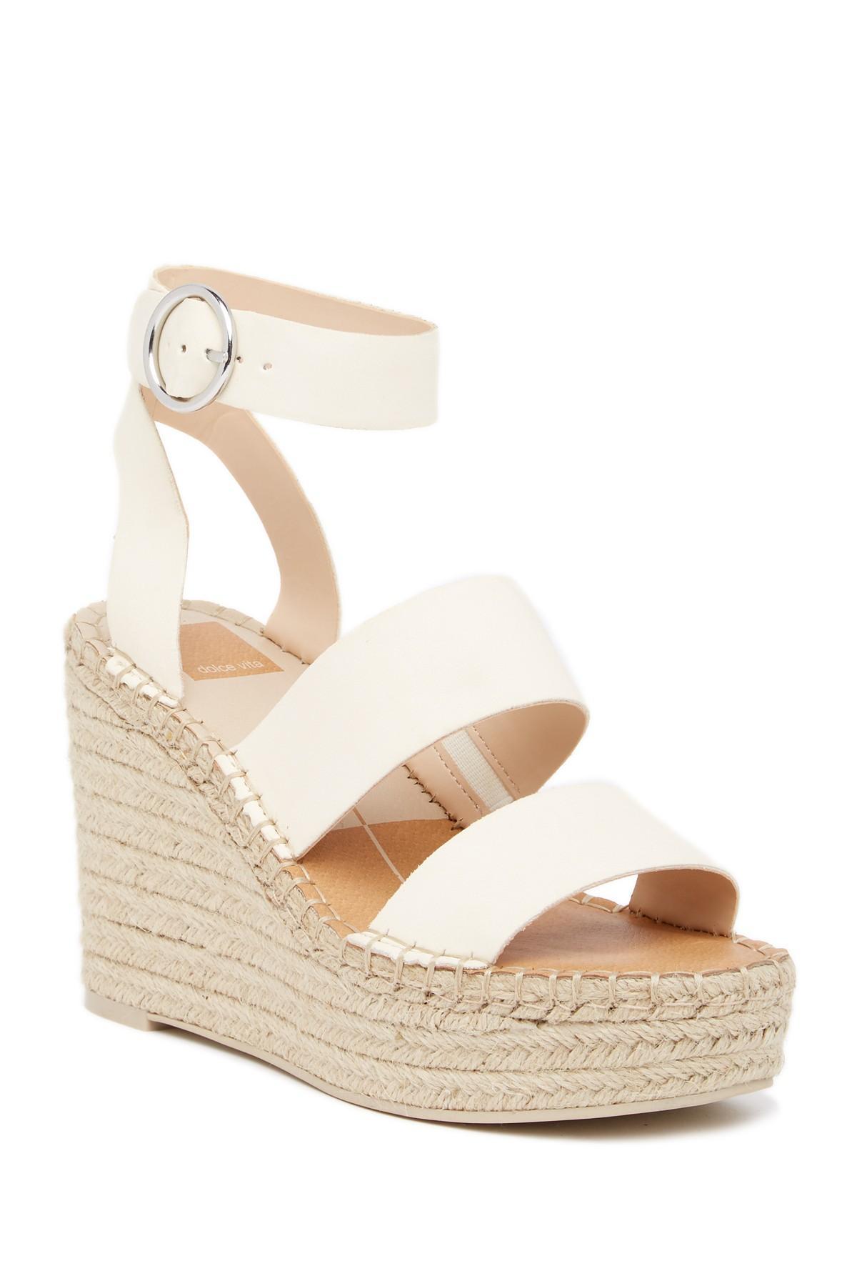 fdd71e71f54c Lyst - Dolce Vita Shaun Platform Espadrille Wedge Sandal in White