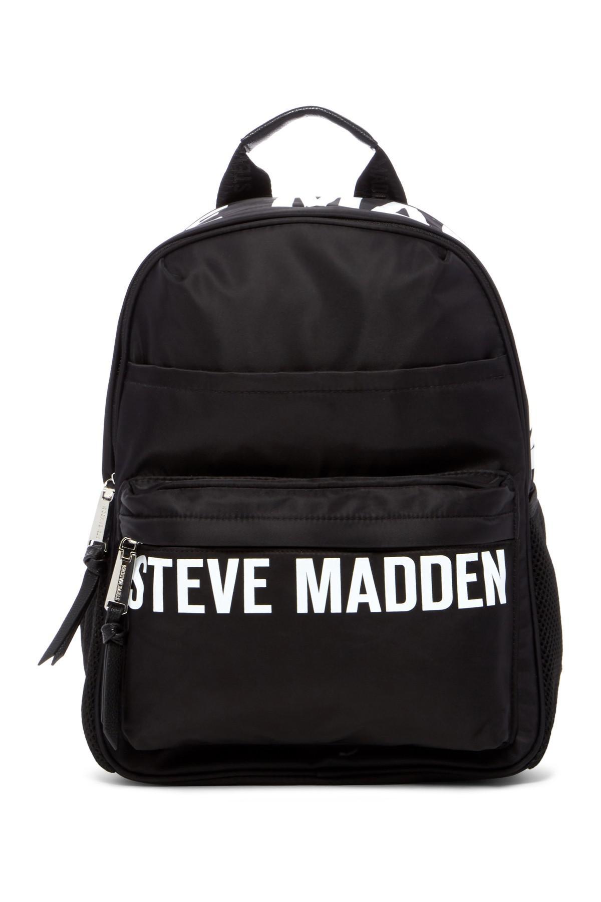 Steve Madden Placement Print Nylon Backpack In Black Lyst