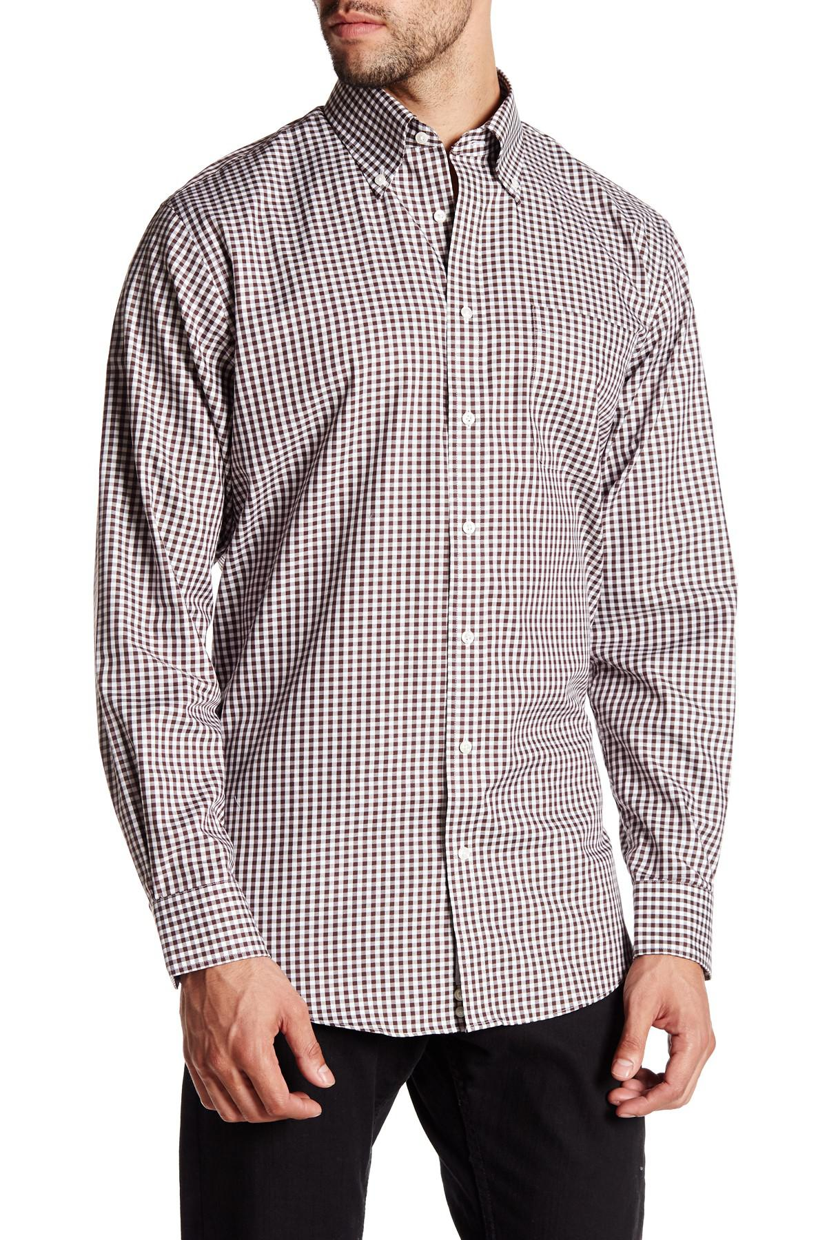 Lyst nordstrom traditional fit non iron check dress for Nordstrom custom dress shirts