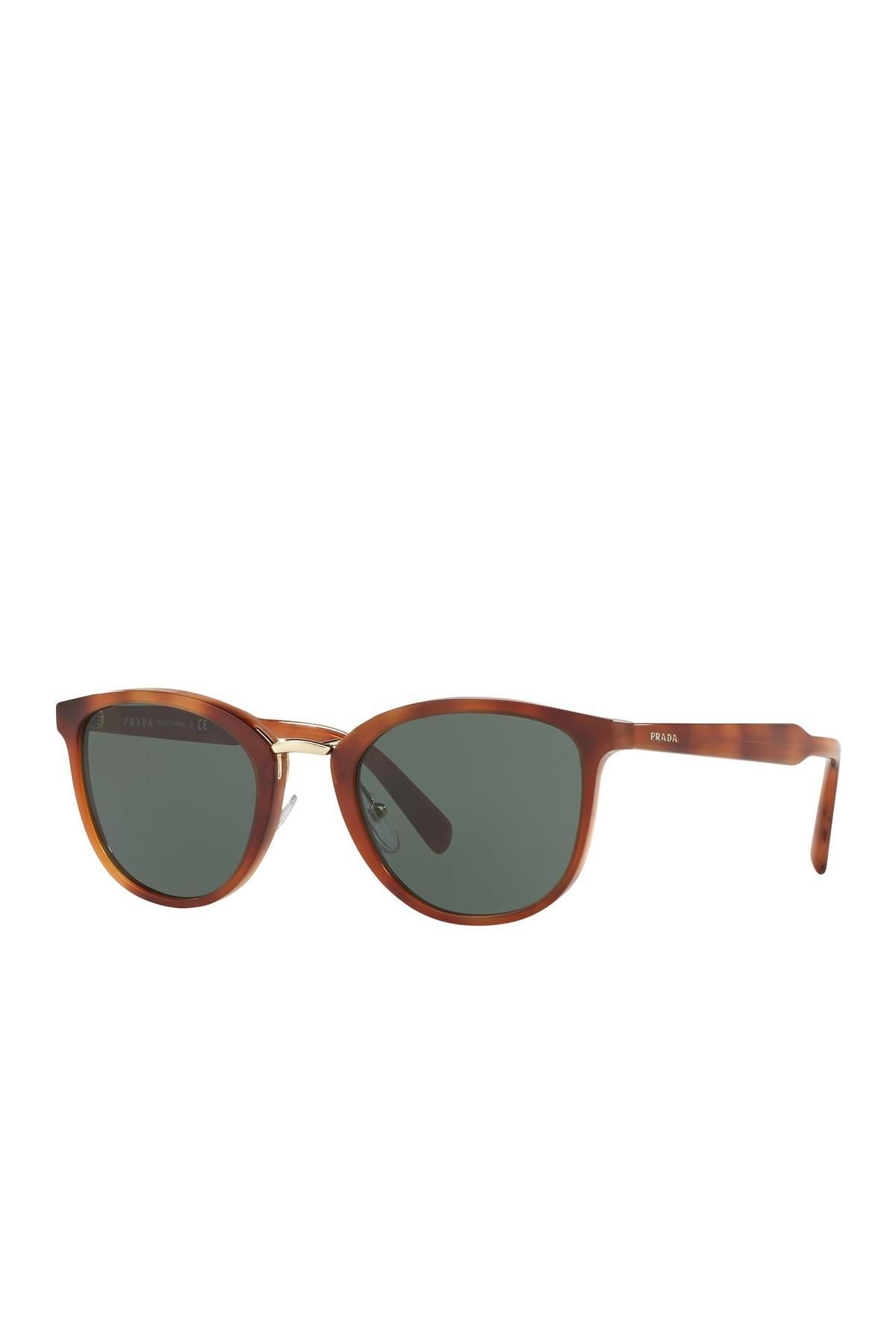 321256ab307f2 Prada 22ss Round Sunglasses in Brown for Men - Lyst
