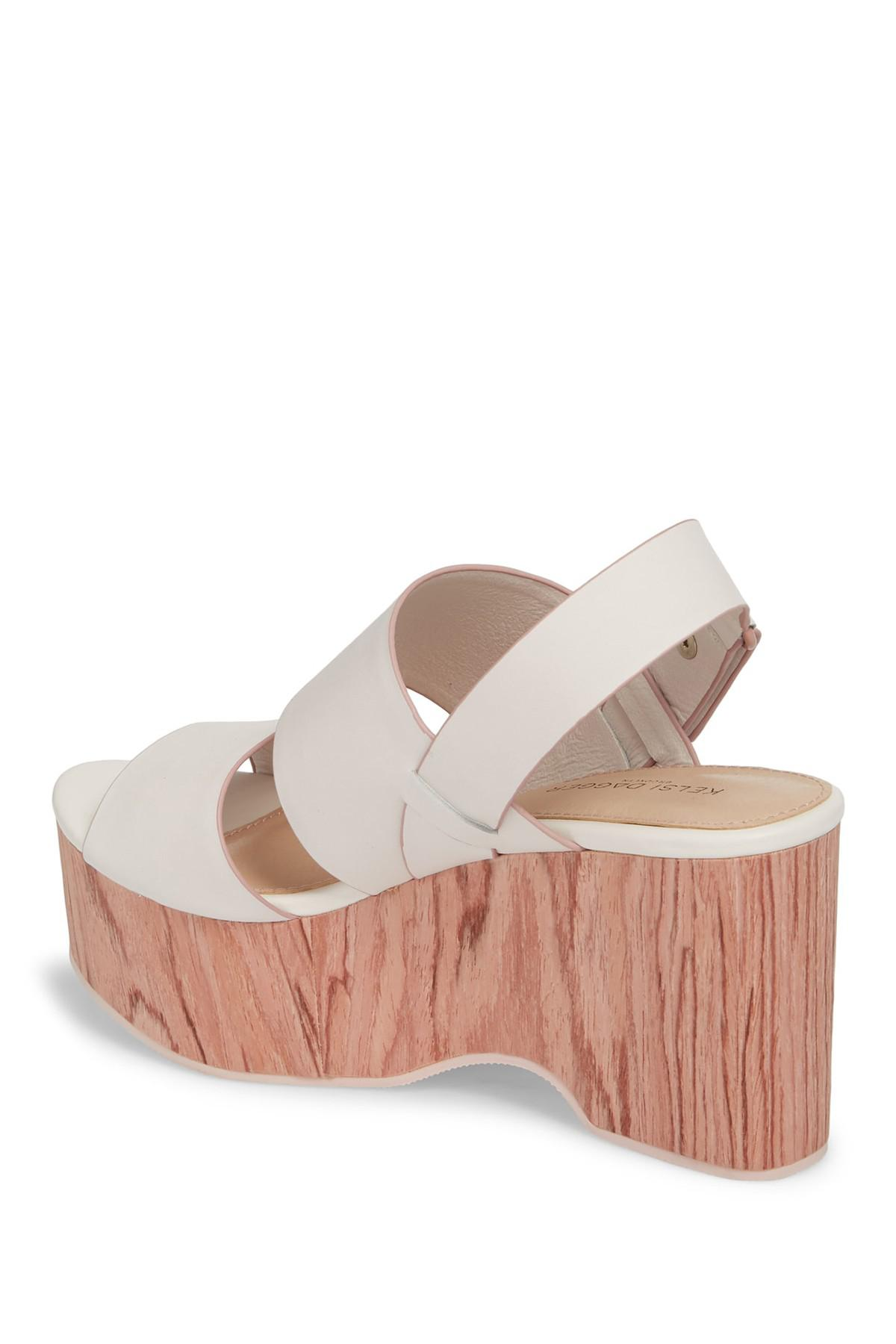12c6352f6bc Lyst - Kelsi Dagger Brooklyn Nash Platform Wedge Sandal (women) in White