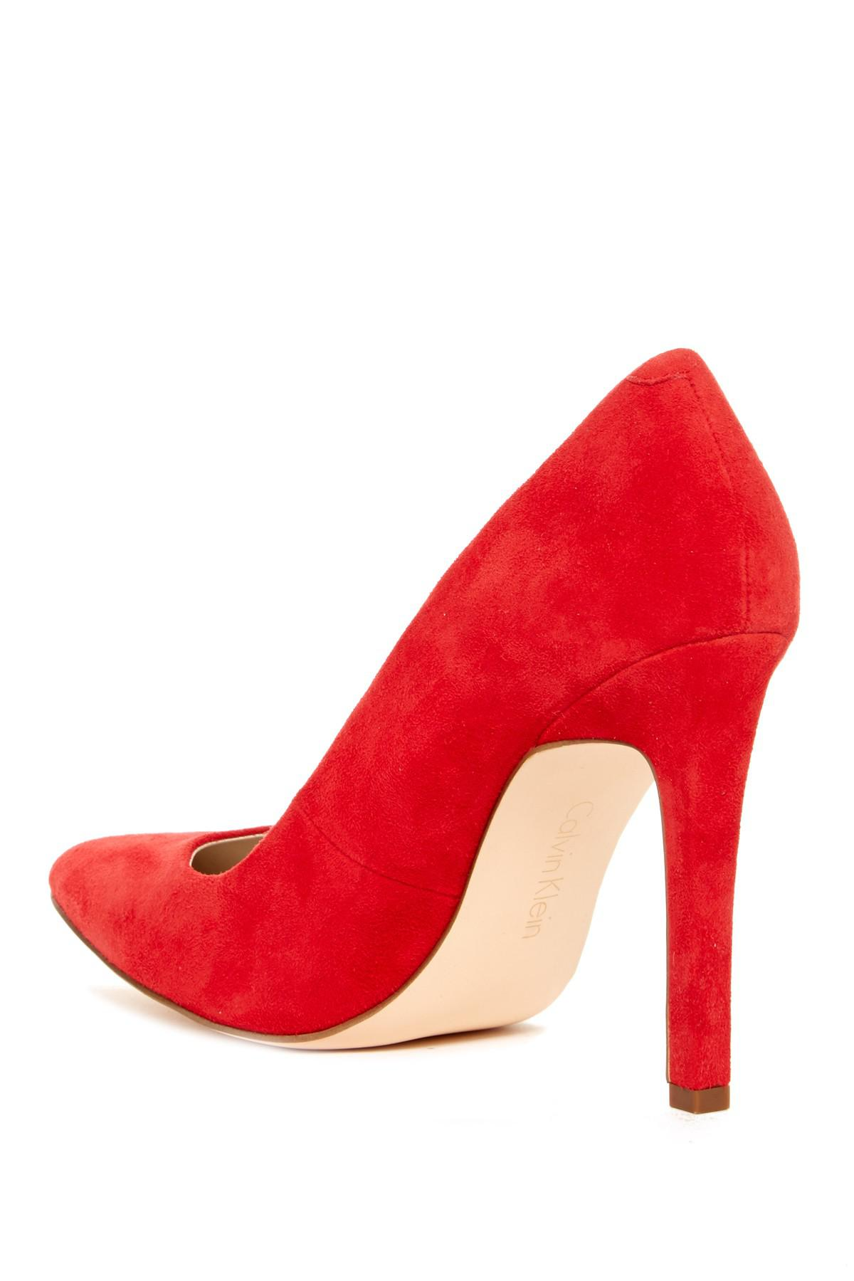 Dune Red Suede Shoes