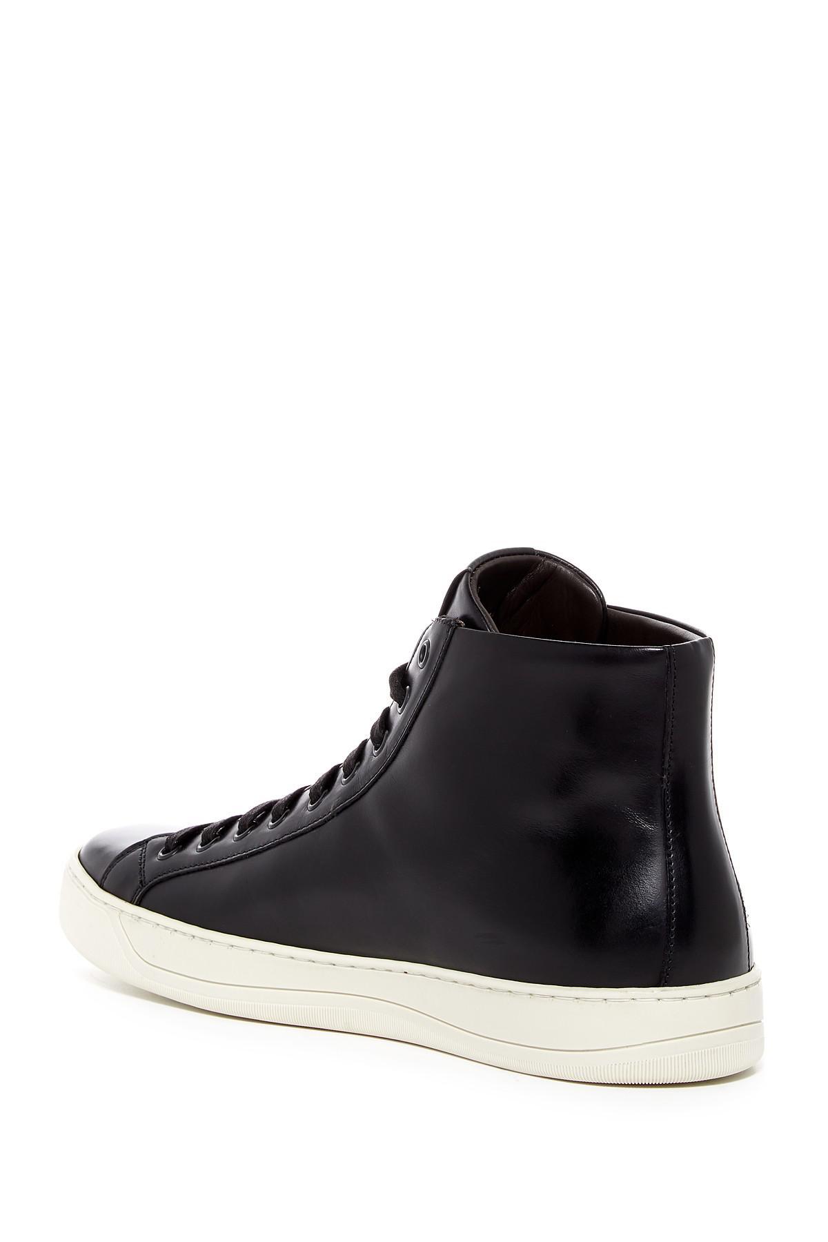 f1d14b7352f Lyst - Bruno Magli Wilson Leather Hi-top Sneaker in Black for Men
