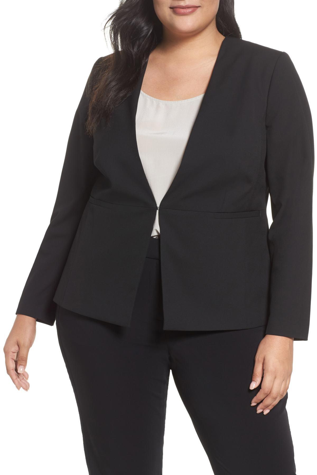2f133f4de8a Lyst - Sejour Riley Jacket (plus Size) in Black