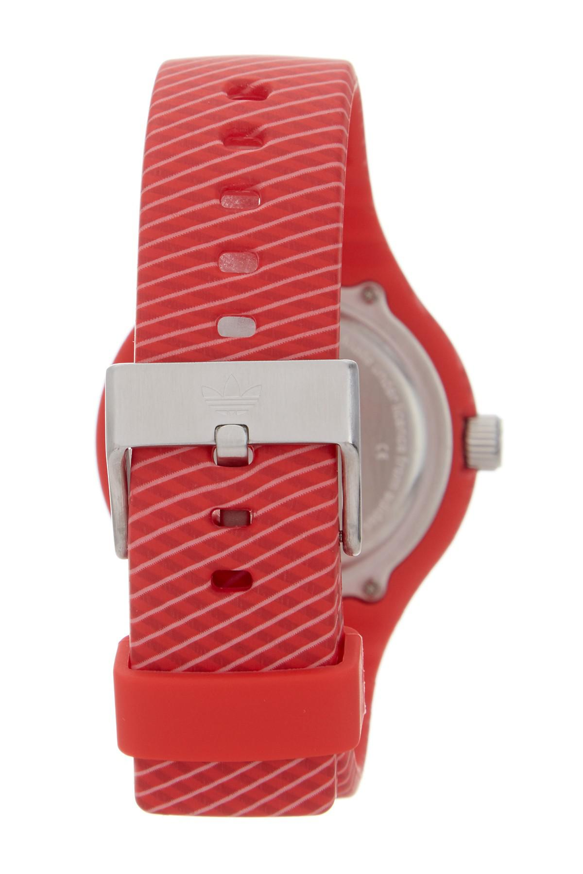 Red Adidas Watch Best Pictures Of Adh3017 Aberdeen Dial Rubber Strap Lyst Women S Ipswich Silicone In
