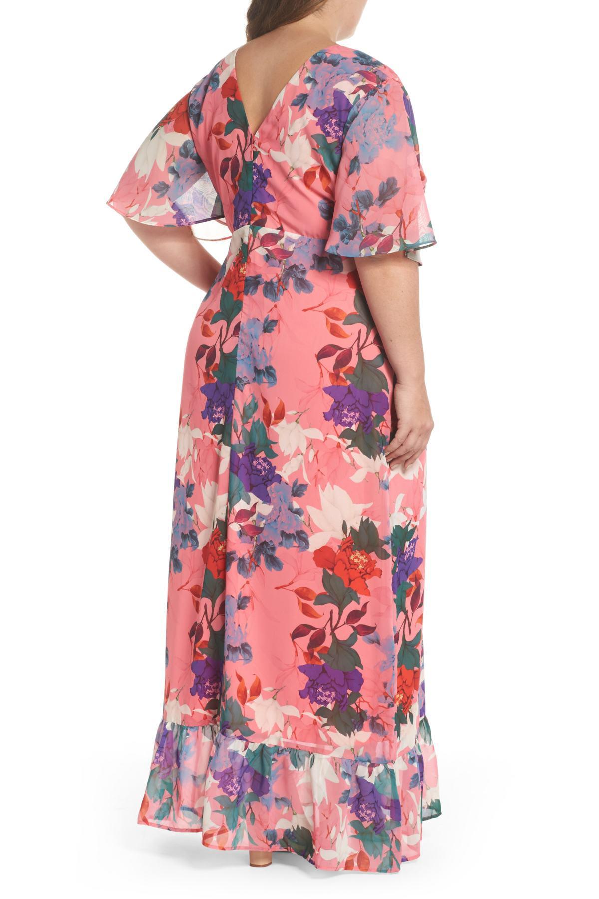 Floral Kimono Maxi Dress (plus Size)