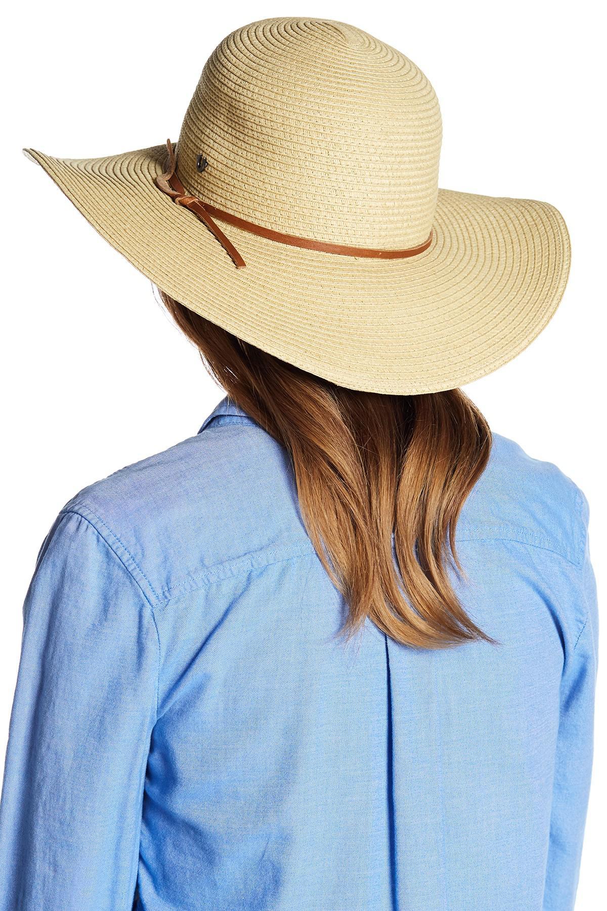 Lyst - True Religion Floppy Braid Straw Hat in Natural bf18bb175ee0