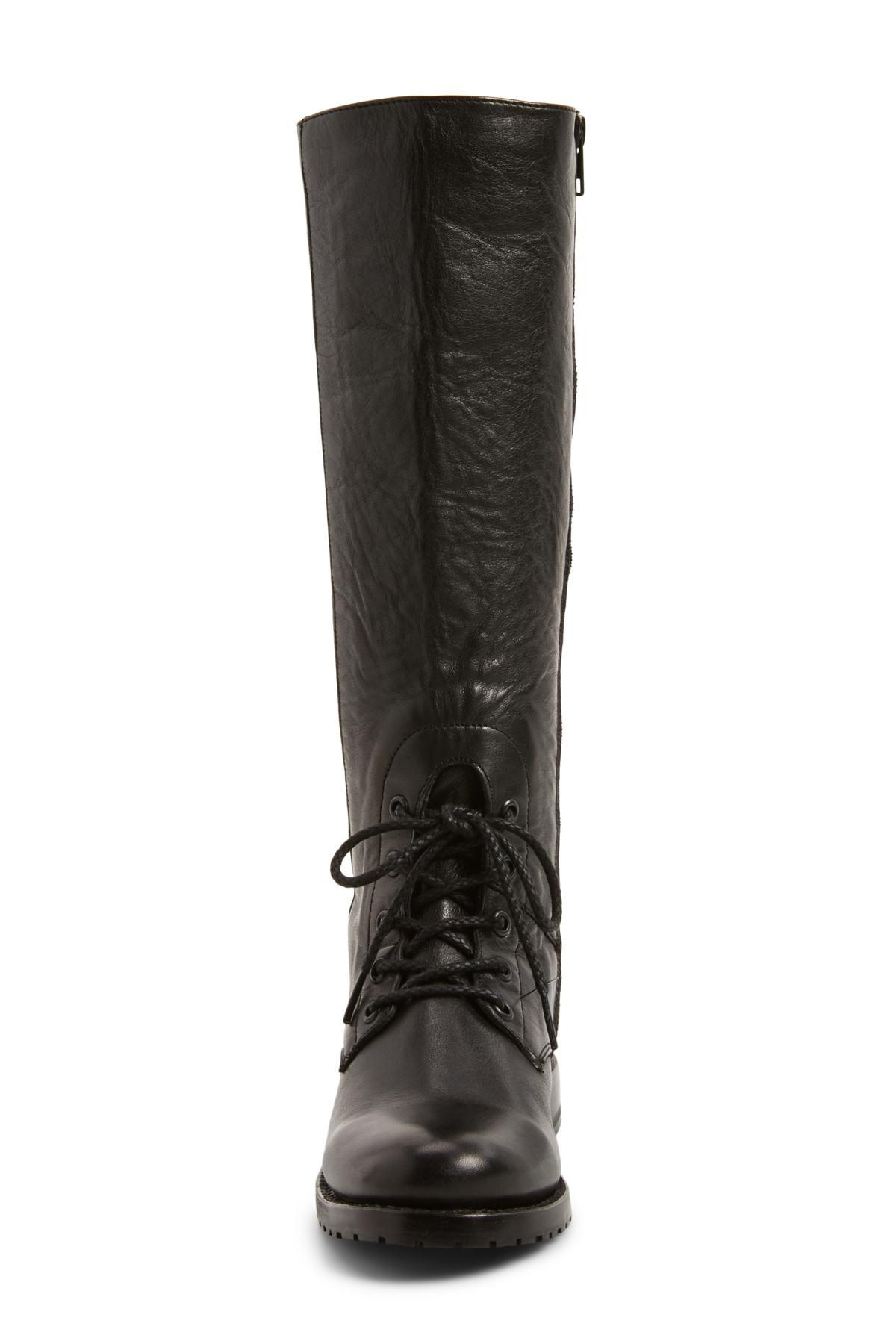 b5622761f6d Black Natalie Knee High Combat Boot (women)