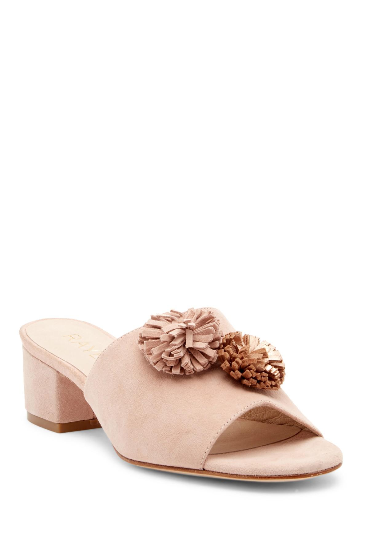 RAYE Chrissy Suede Pompom Sandal XWK1U