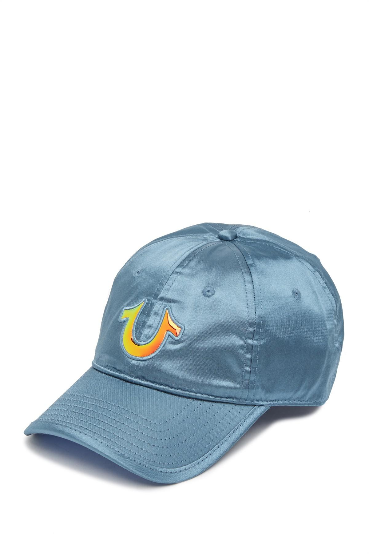 21e43043ba804 Lyst - True Religion Satin Baseball Cap in Blue for Men