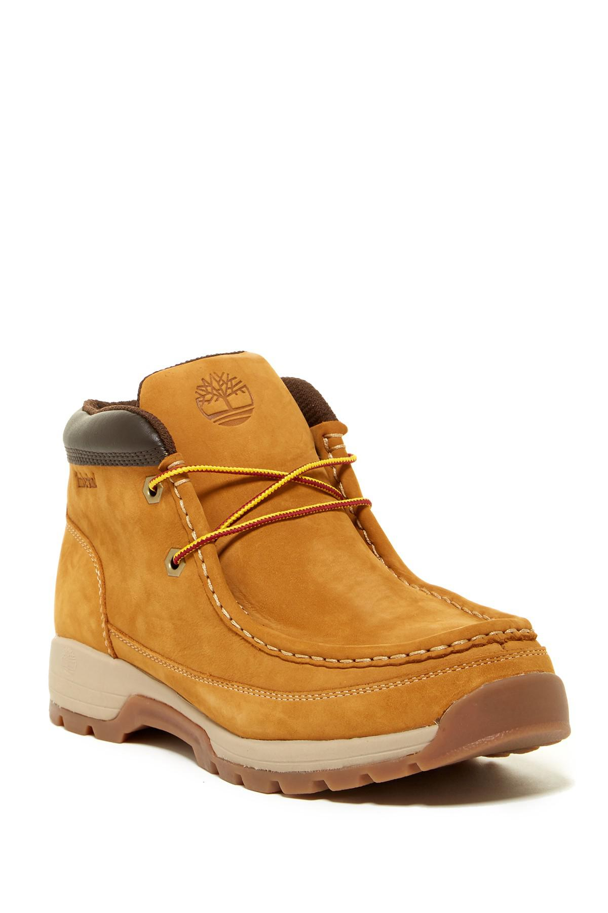 Timberland Leather Stratmore Moc Toe Boot In Brown For Men