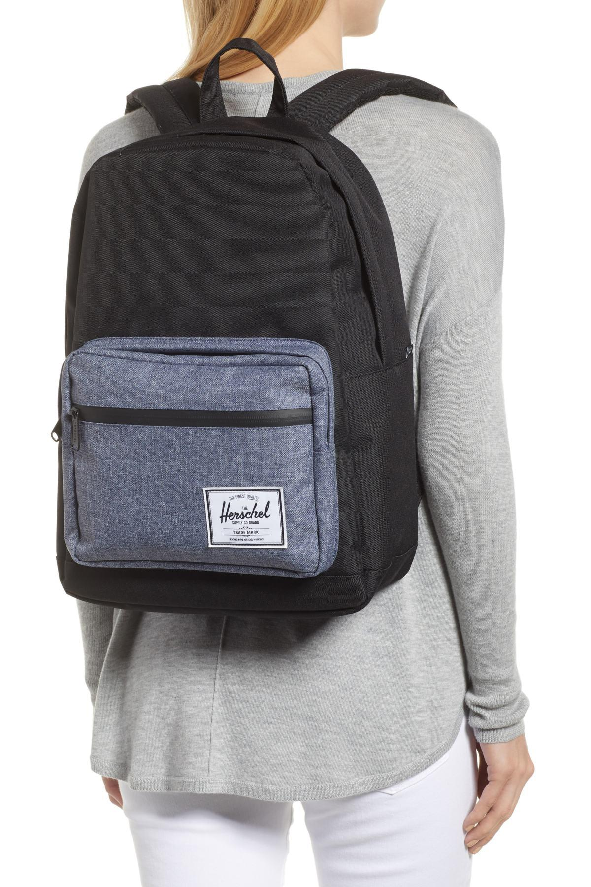 37b9cd35d39e Herschel Supply Co. - Black Pop Quiz - Chambray Backpack for Men - Lyst.  View fullscreen