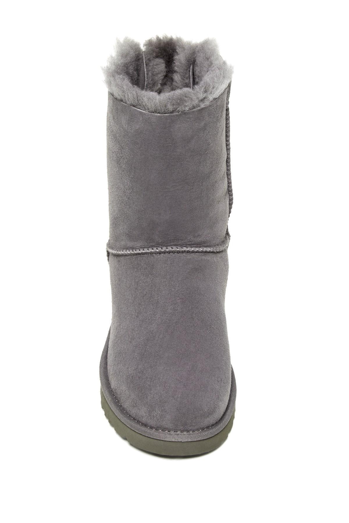 4feb2c8a373 Women's Gray Bailey Twinface Genuine Shearling & Pure(tm) Bow Corduroy Boot