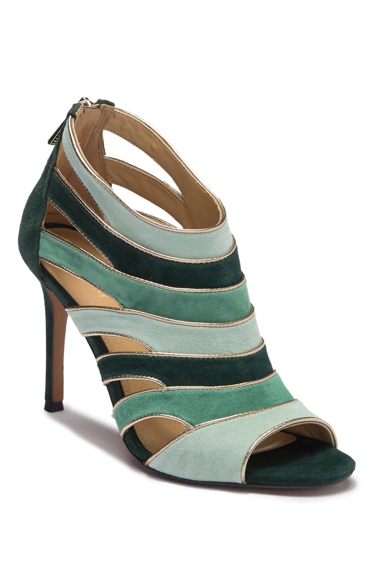 035845e3617a Lyst - MICHAEL Michael Kors Harper Open Toe Sandal in Green