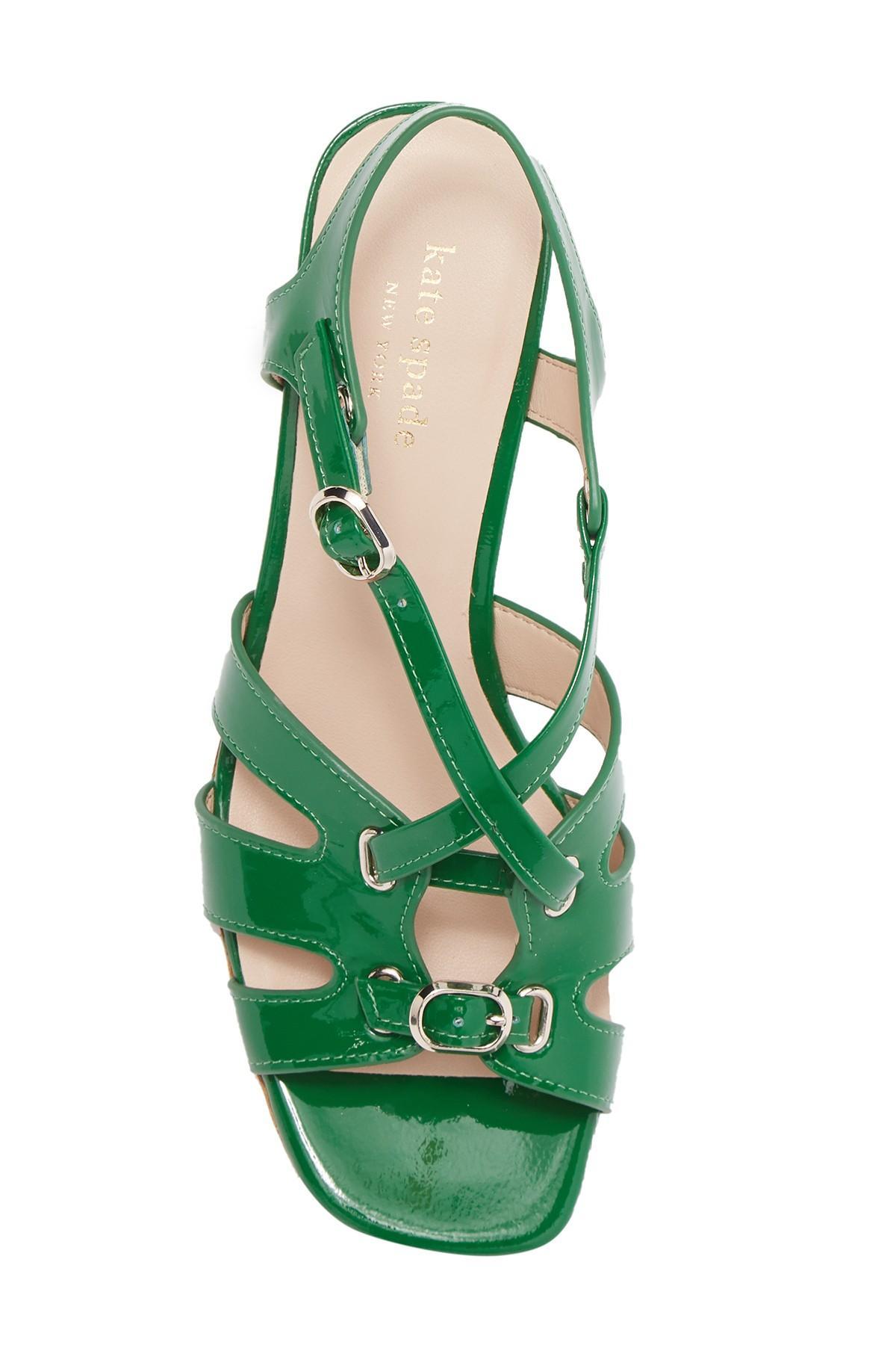 Kate Spade Denim Ella Sandals in Green