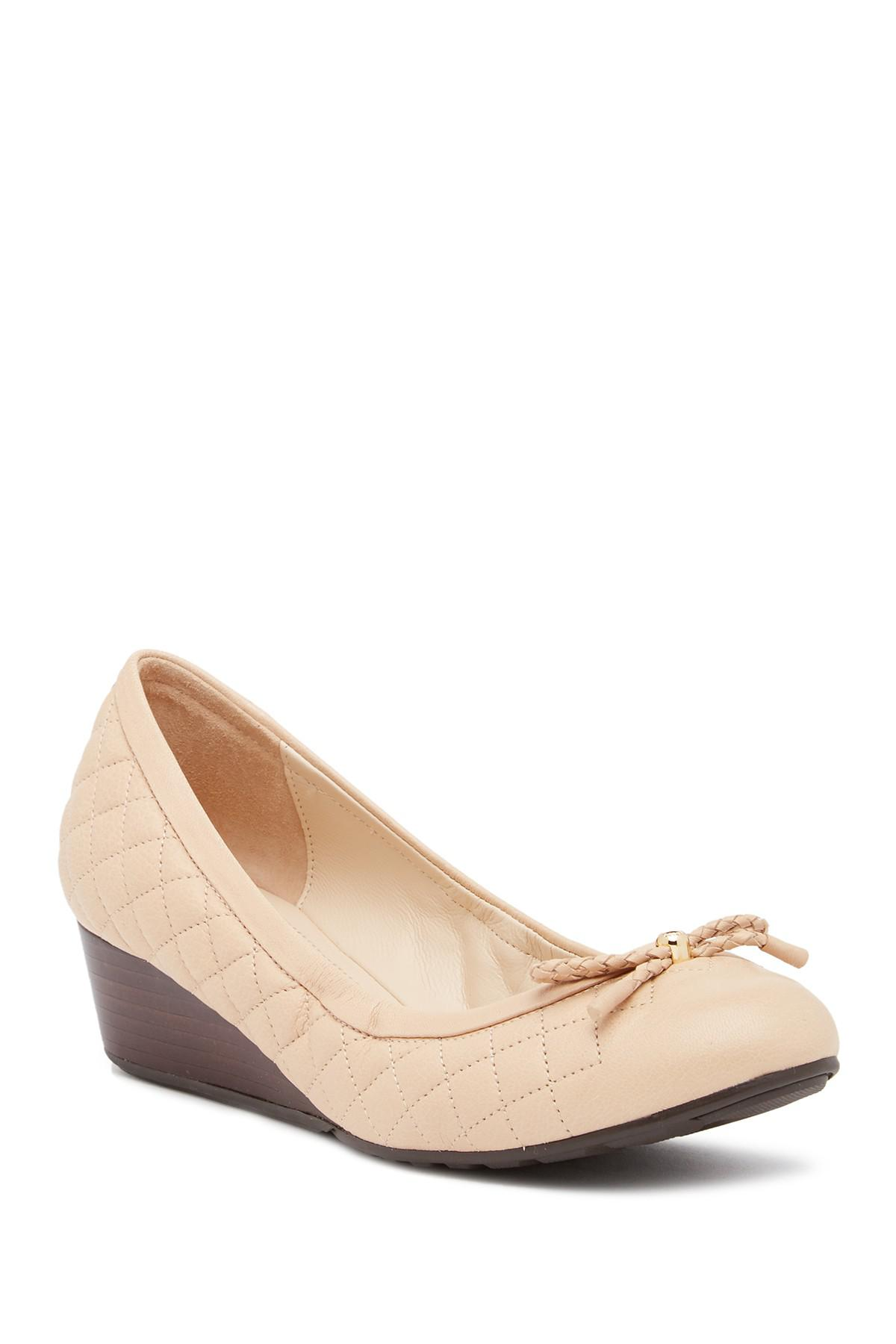 a4968b4e632 Cole Haan Tali Grand Quilted Wedge Pump in Natural - Lyst