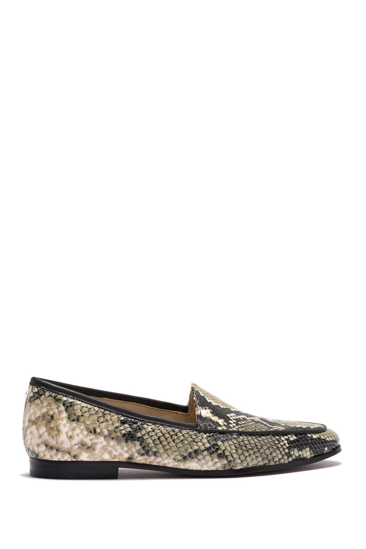 44a718c28c3 Lyst - Sam Edelman Leon Embossed Snake Leather Loafer in Black