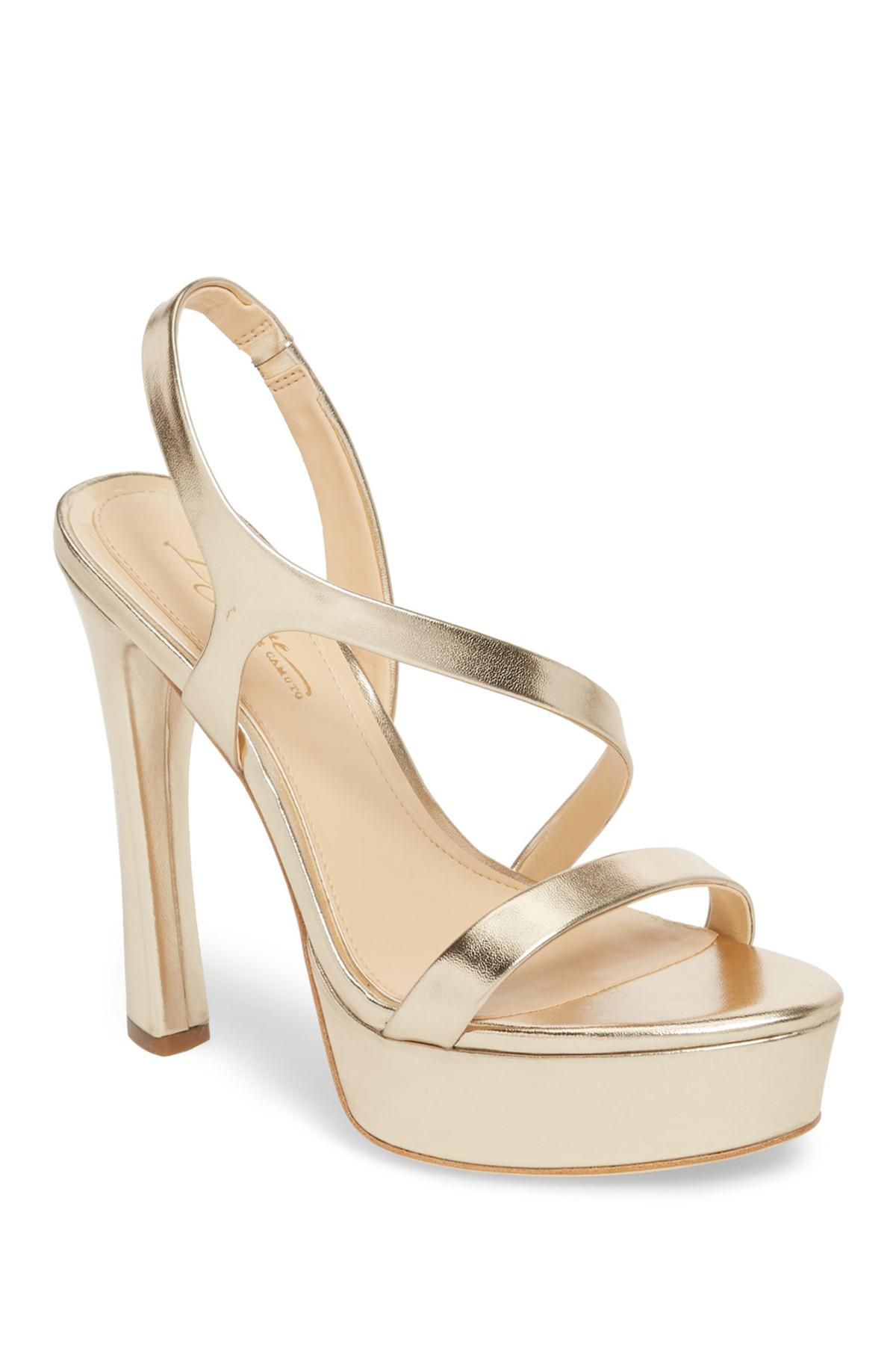 5145297237d Lyst - Imagine Vince Camuto Piera Platform Sandal in Metallic