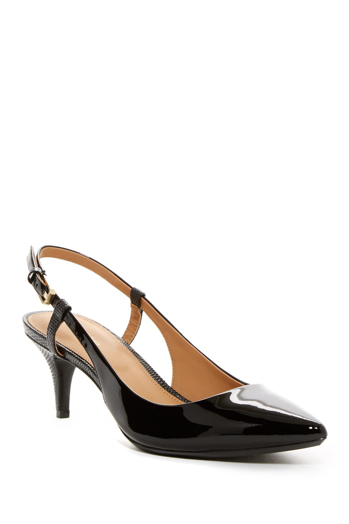 6165e36b943 Lyst - Calvin Klein Patsy Slingback Pointed Toe Pump in Black