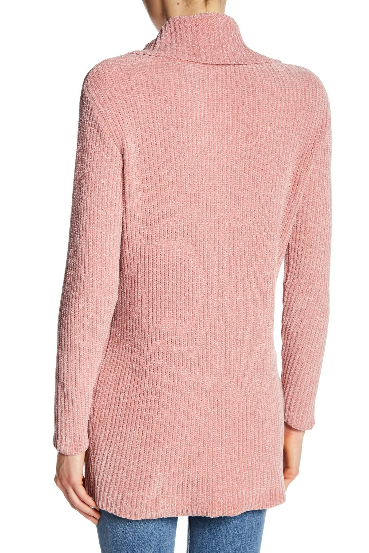 Dress forum Oversized Soft Cable Knit Turtleneck Sweater in Pink ...
