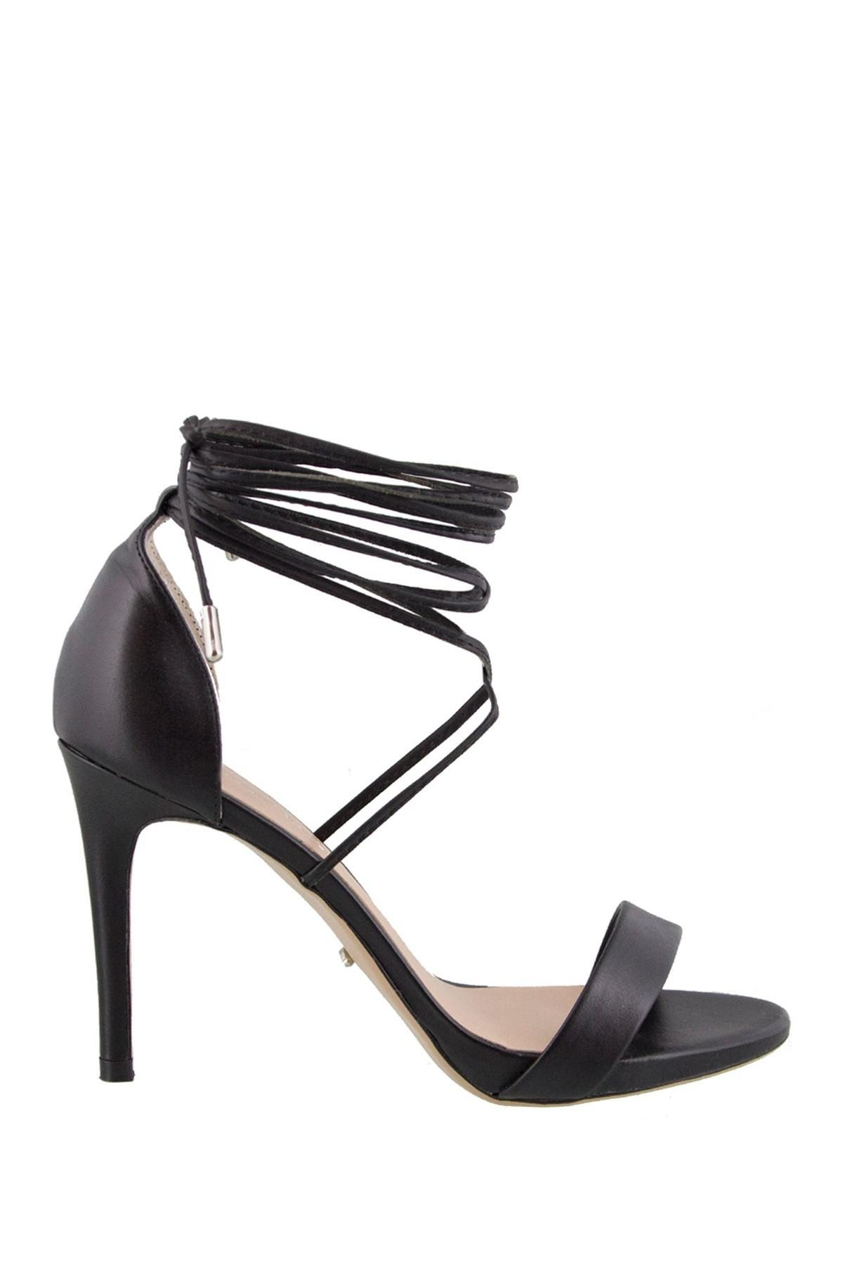 c0d4e724167 Lyst - Tony Bianco Cato Strappy Heeled Sandals in Black