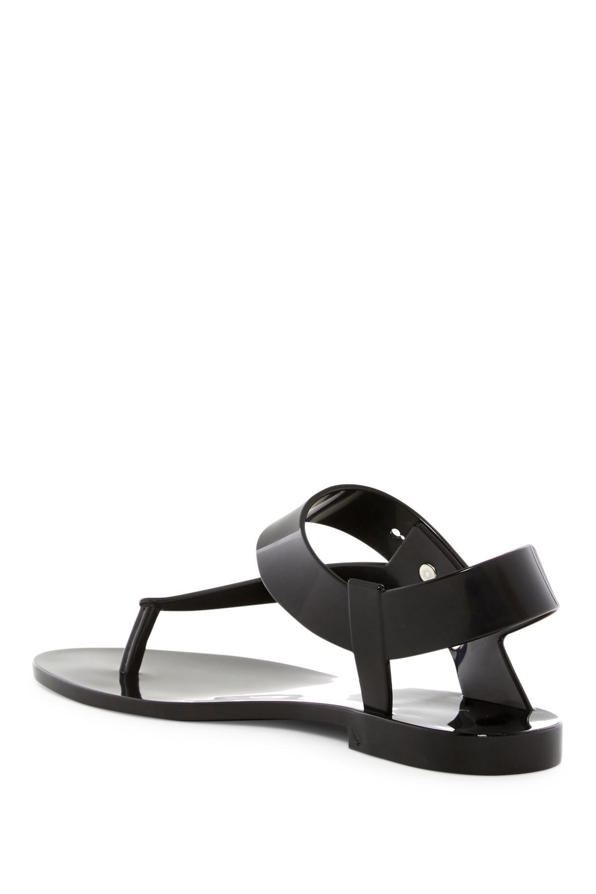 c97cdac45ddc Lyst - Melissa X Jason Wu Asymmetrical Jelly Sandal in Black