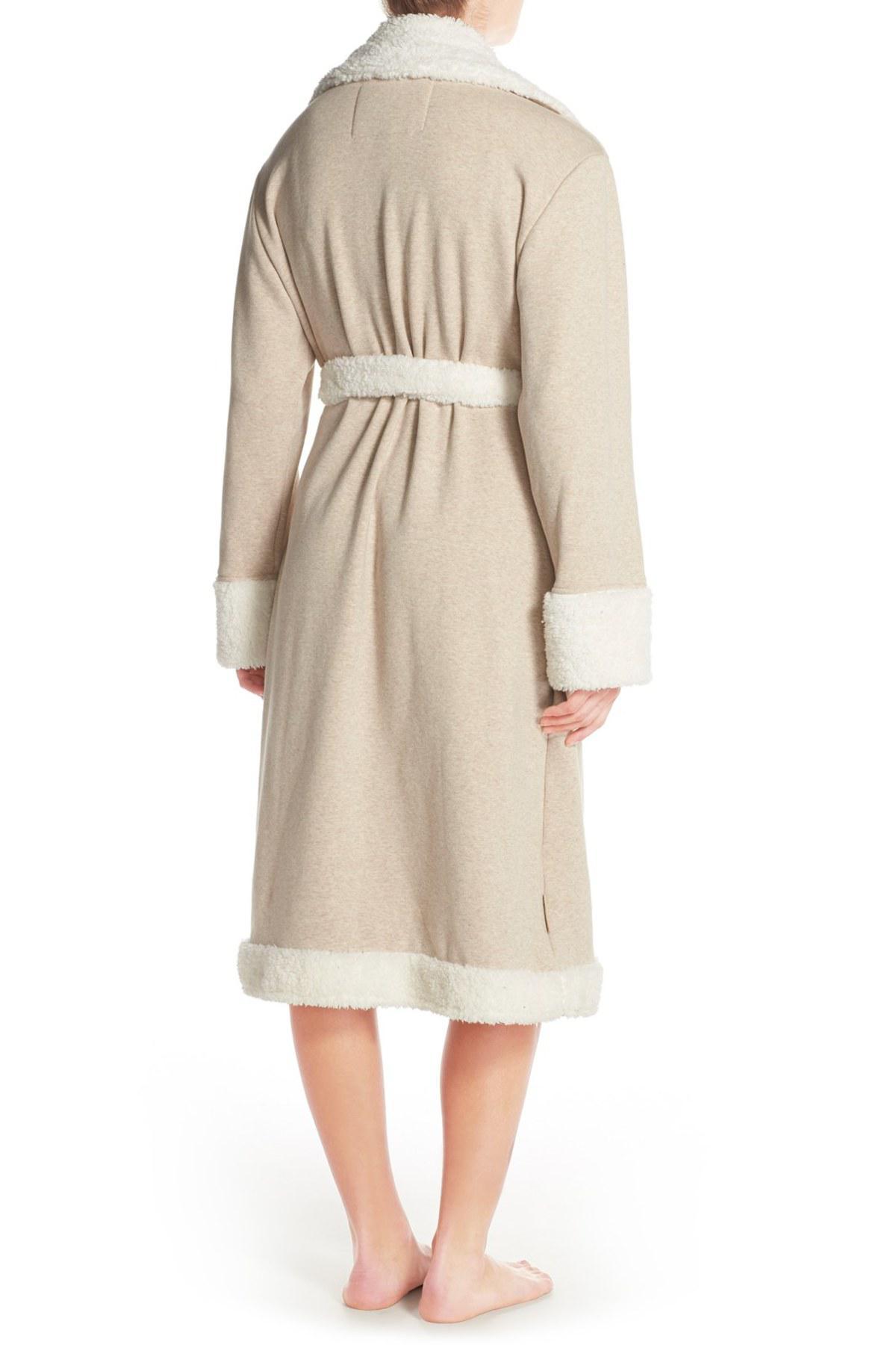 Lyst - Ugg Duffield Deluxe Fleece Robe in Blue b99634269