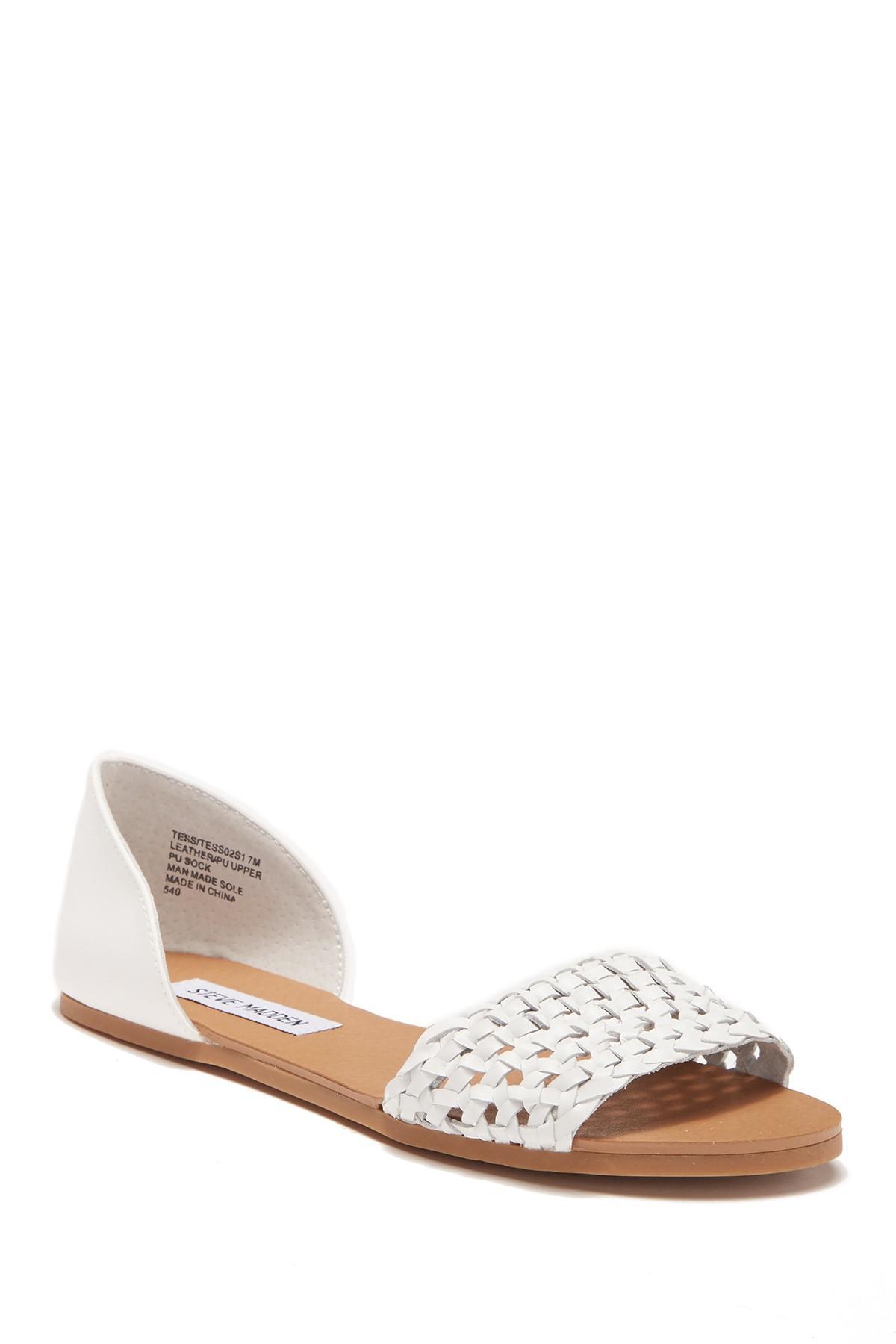 87ce0b806e4 Lyst - Steve Madden Tess Leather Sandal in White