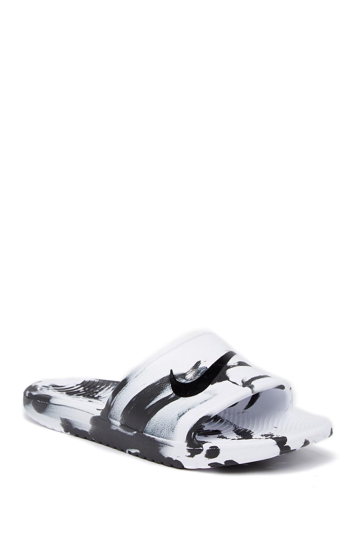 Nike Kawa Shower Marble Slide Sandal in