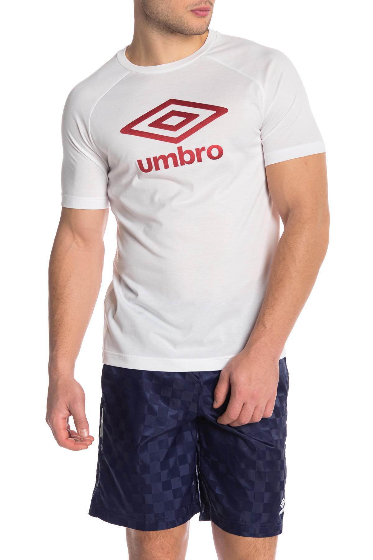 cb2afa7f00 Lyst - Umbro Short Sleeve Front Graphic Logo Print Tee in White for Men