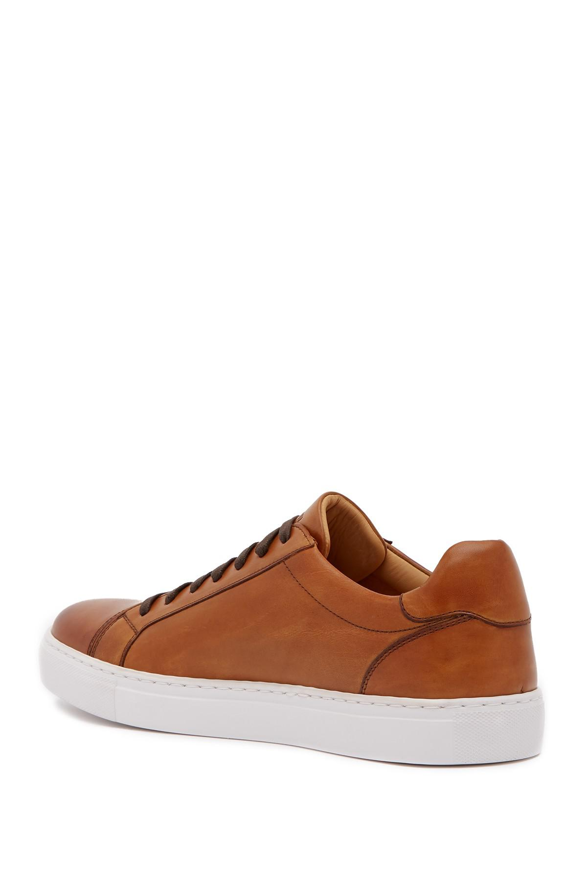 b4107fbe Magnanni Cuervo Leather Sneaker in Brown for Men - Lyst