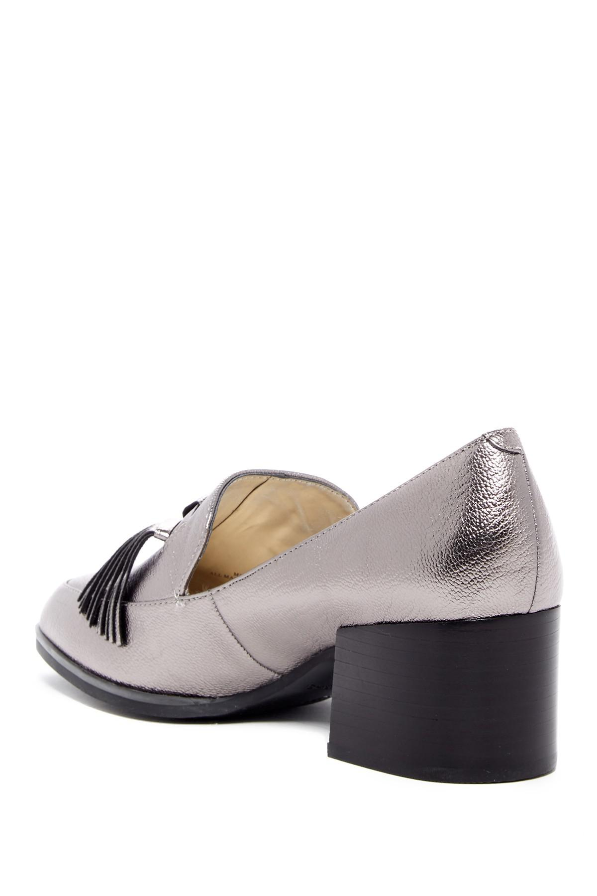 a5a3622e6f0 Lyst - Marc Fisher Phylicia Block Heel Loafer in Gray