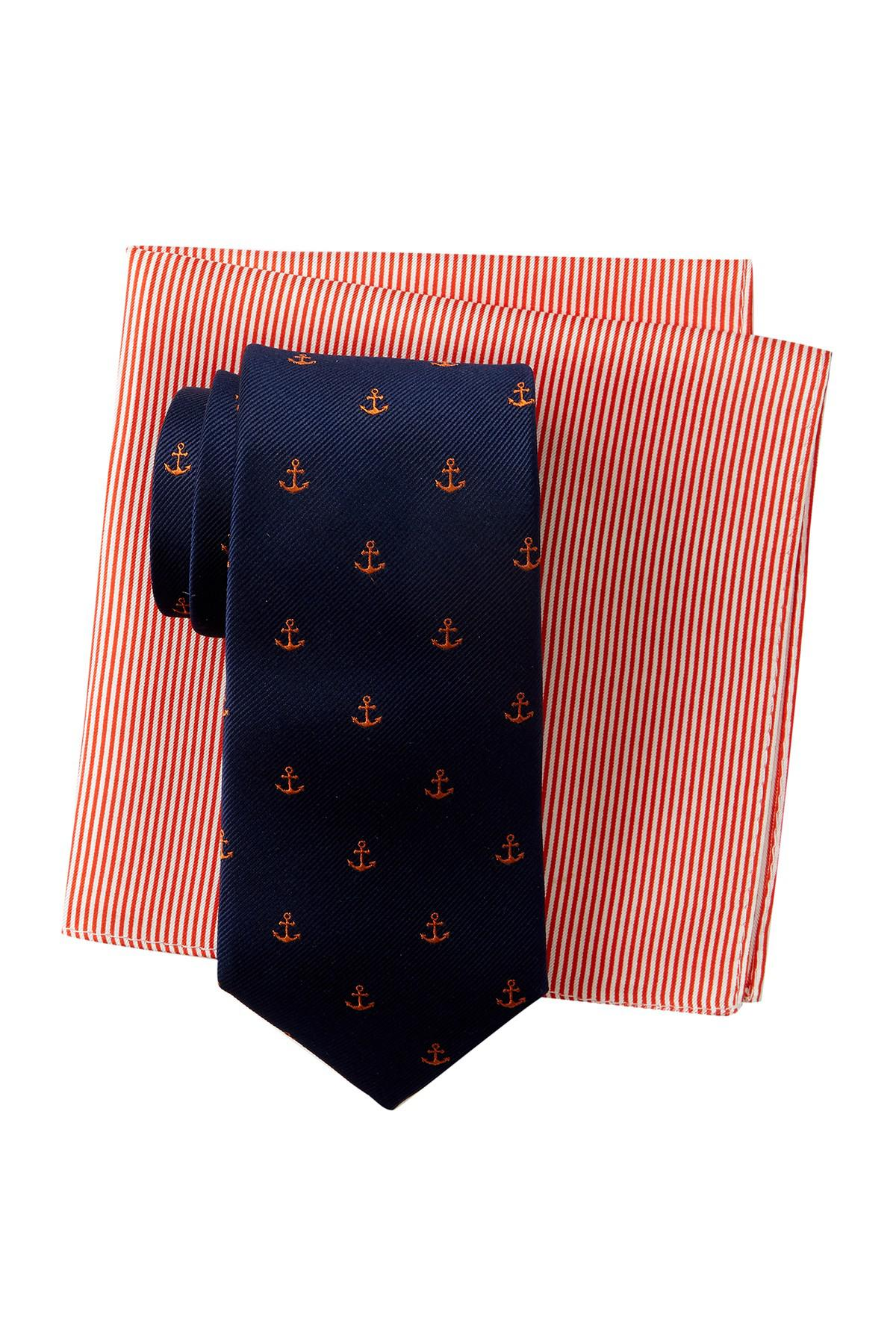 Details about  / 2 Tommy Hilfiger Me/'s Anchor and fest Silk Pocket Square