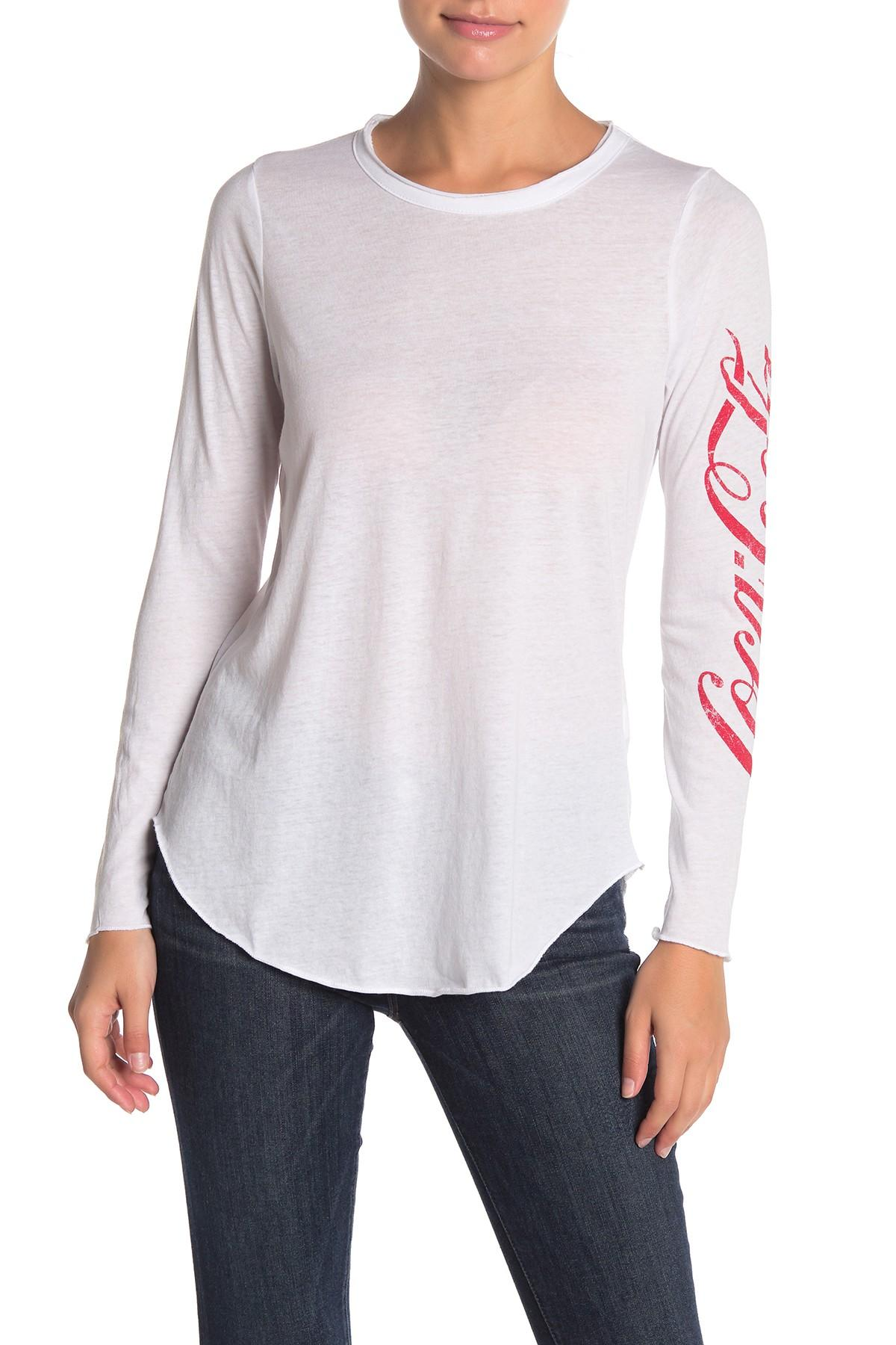 876170600ac Chaser Coca-cola Vintage Jersey Long Sleeve T-shirt in White - Lyst