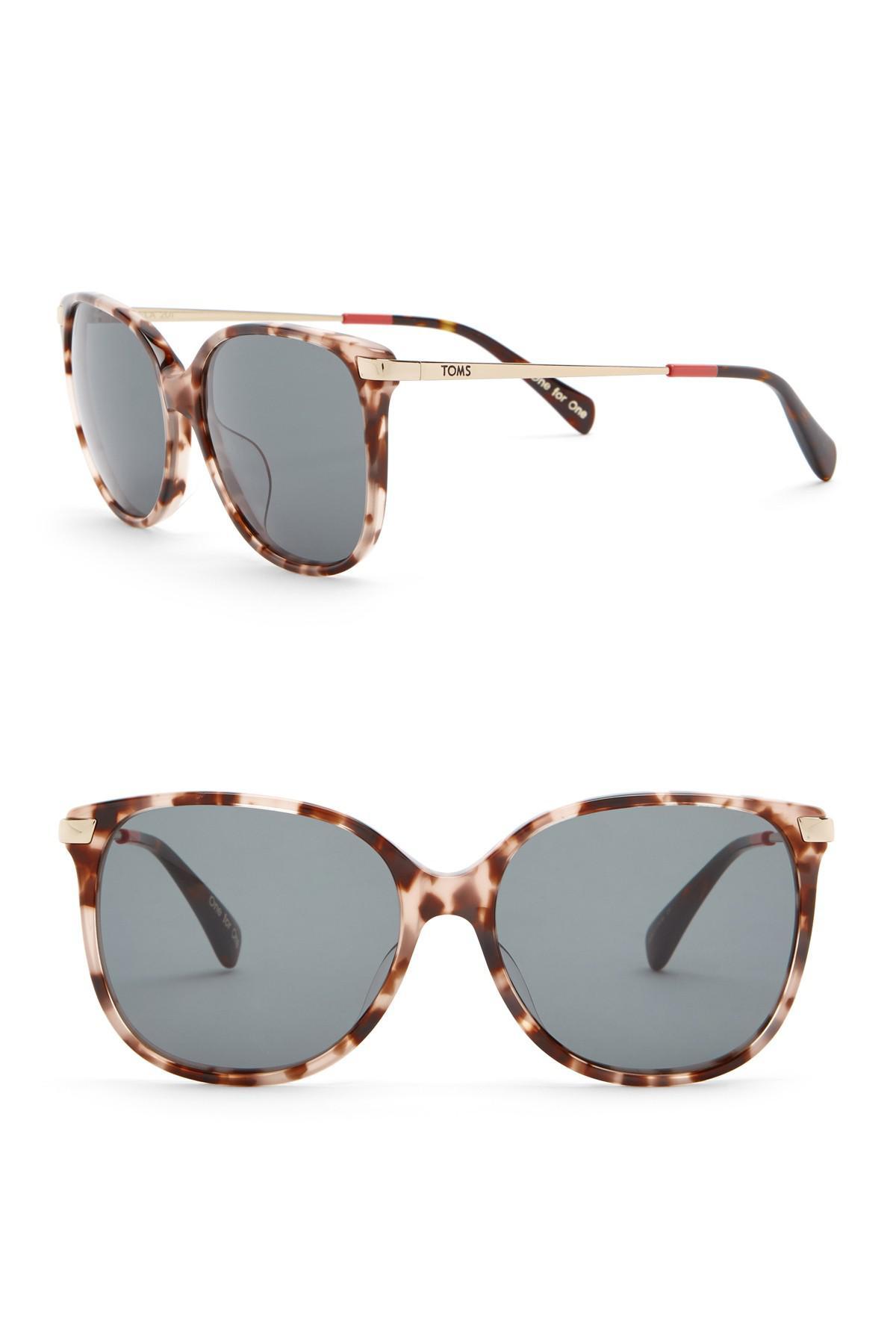 39e9928e9a5 TOMS Sandela 55mm Oversized Sunglasses - Lyst