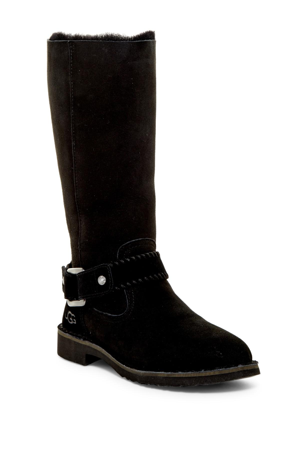 Lyst Ugg Braiden Genuine Shearling Lined Boot In Black