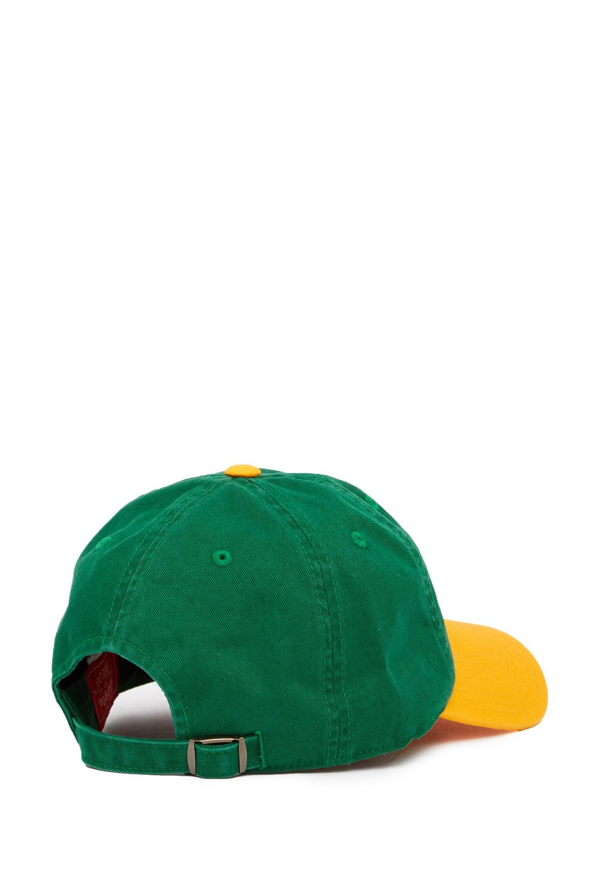 wholesale online super cute on feet at American Needle Cotton Oakland Athletics Baseball Cap in Green for ...