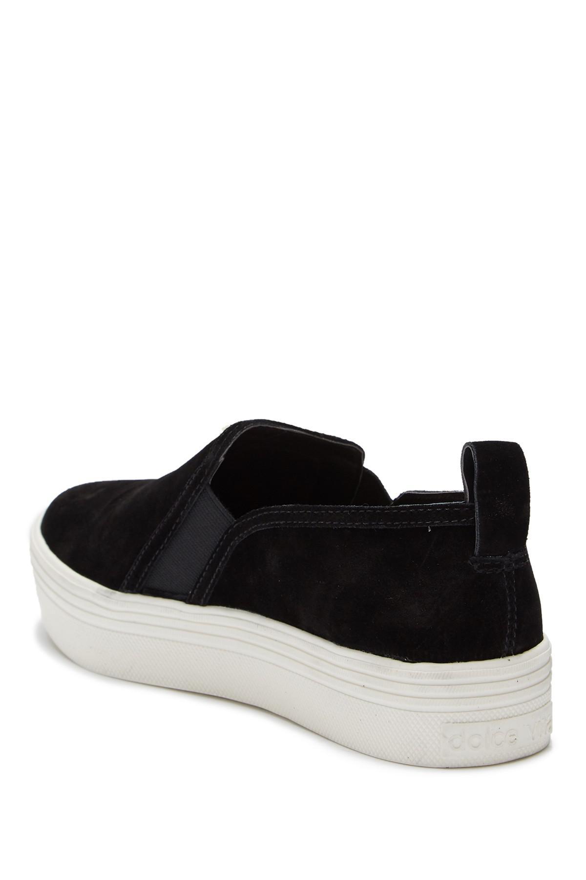 7b07df6ca619 Lyst - Dolce Vita Tannis Double Gored Platform Sneaker in Black