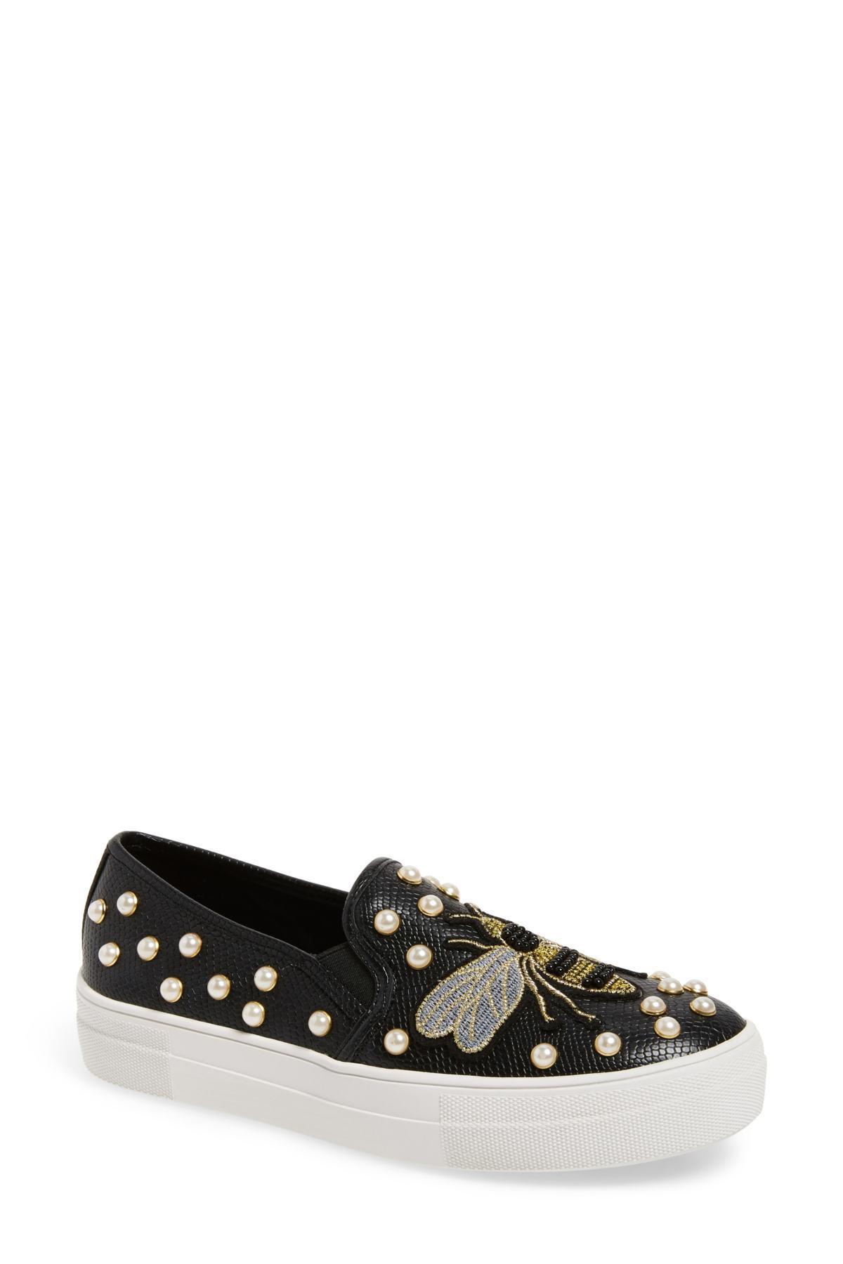 c48665fe15b Steve Madden Black Polly Bee Embellished Slip-on Platform Sneaker (women)