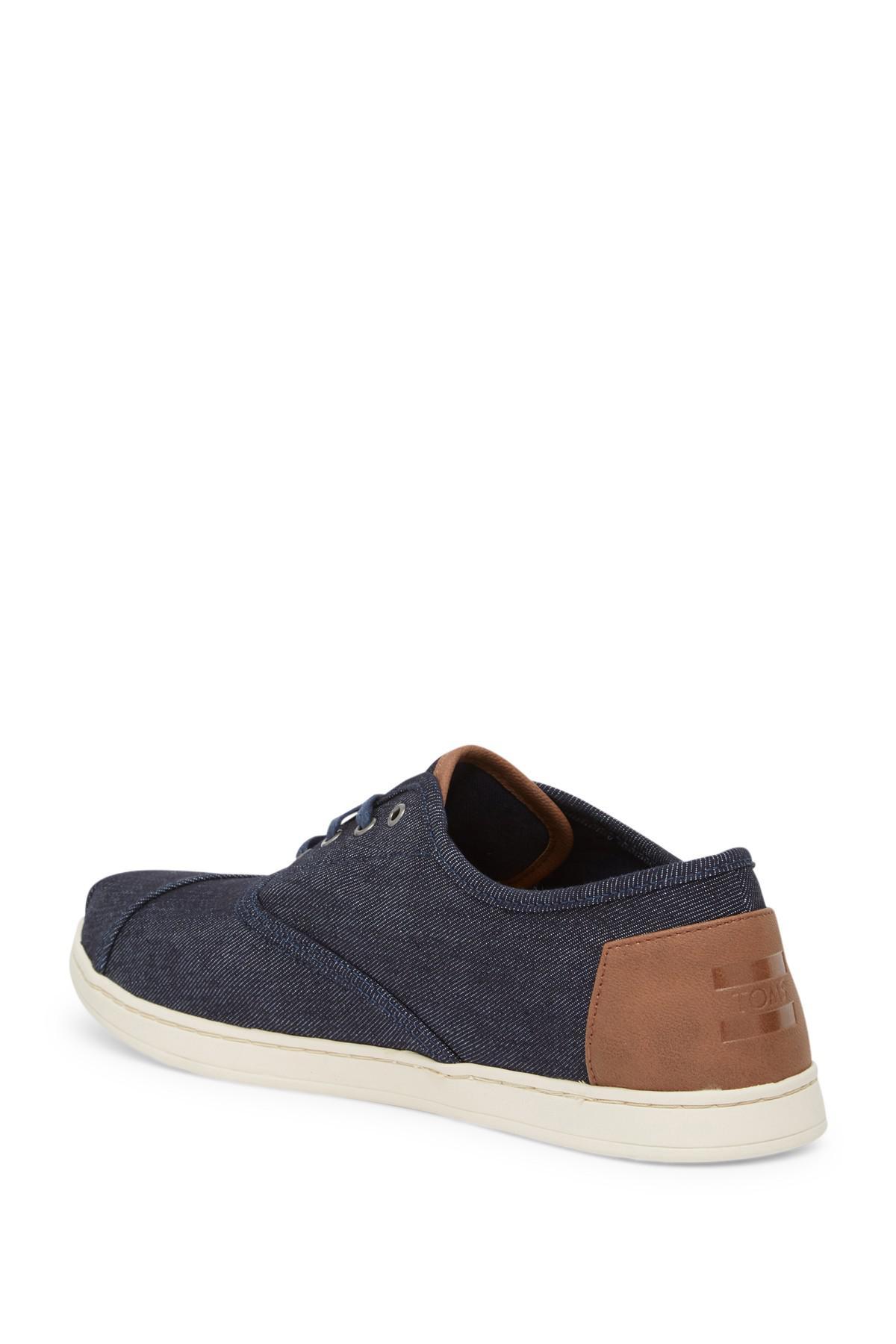 TOMS Donovan Blue Denim Sneaker for Men