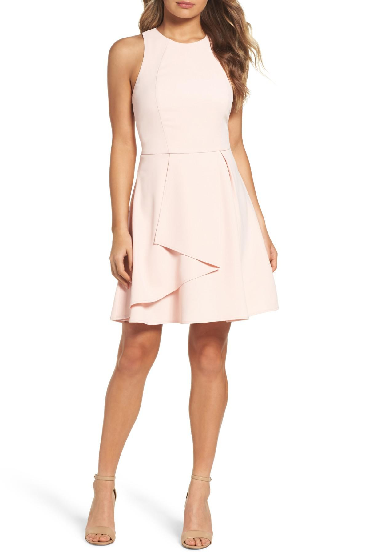 Lyst Adelyn Rae Athena Fit Amp Flare Dress In Pink
