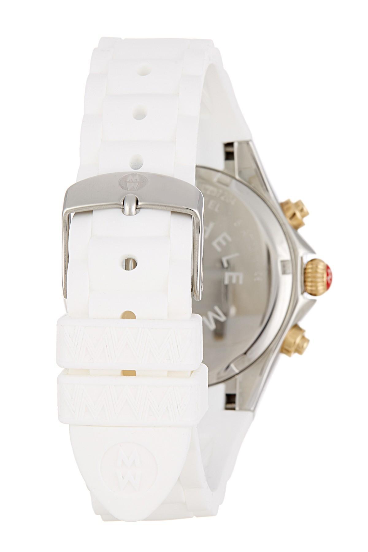 485f03786 Michele Women's Tahitian Jelly Bean Two Tone Watch, 40mm in Metallic ...