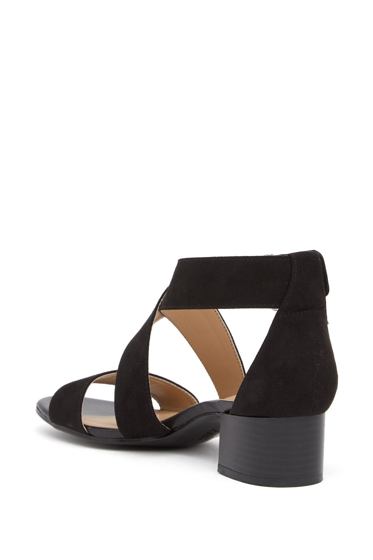 e58f0b67e92 Naturalizer - Black Adele Block Heel Sandal - Wide Width Available - Lyst.  View fullscreen