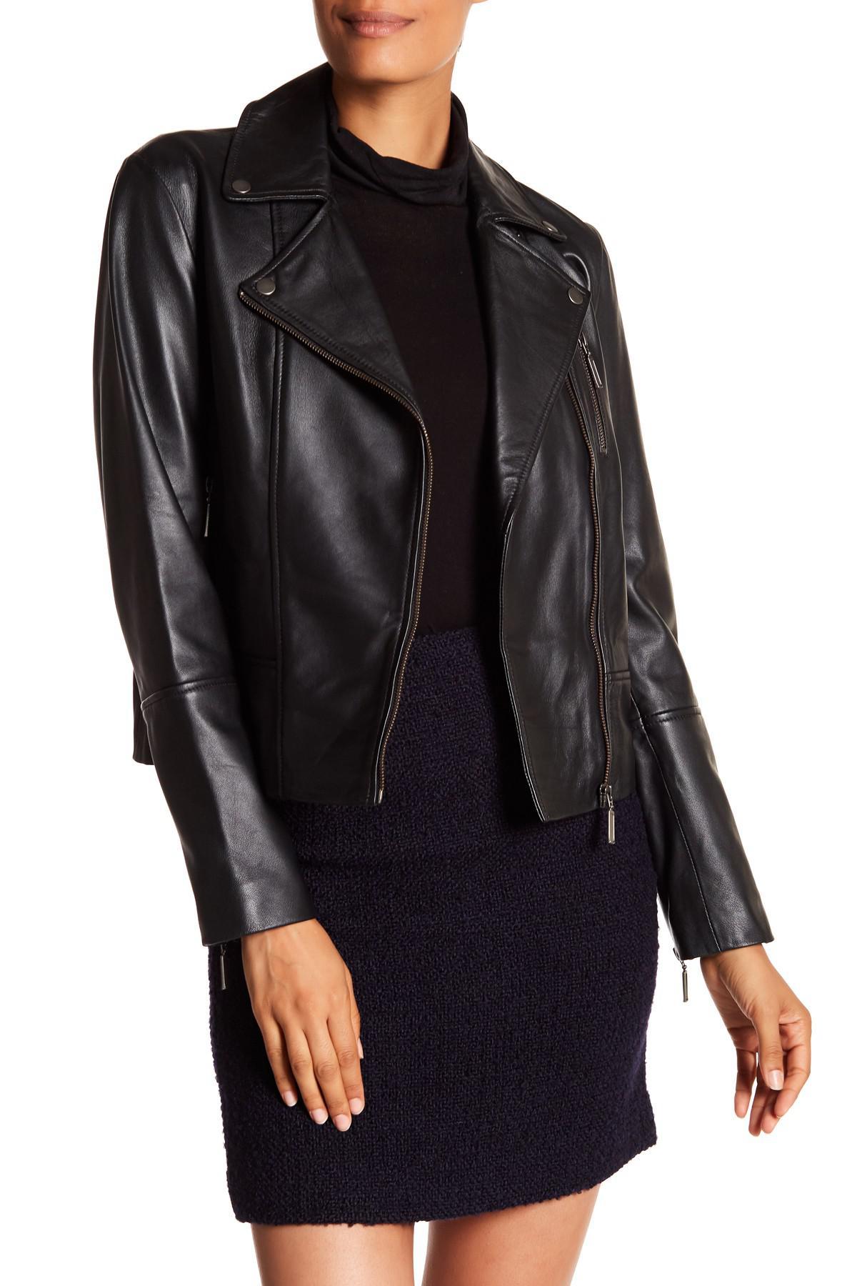 186e24c6e Hobbs Black Laurelle Leather Biker Jacket