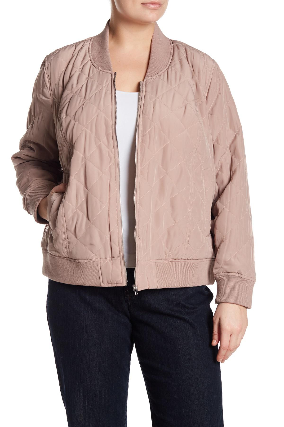 a4e210318 Lucky Brand Pink Quilted Bomber Jacket