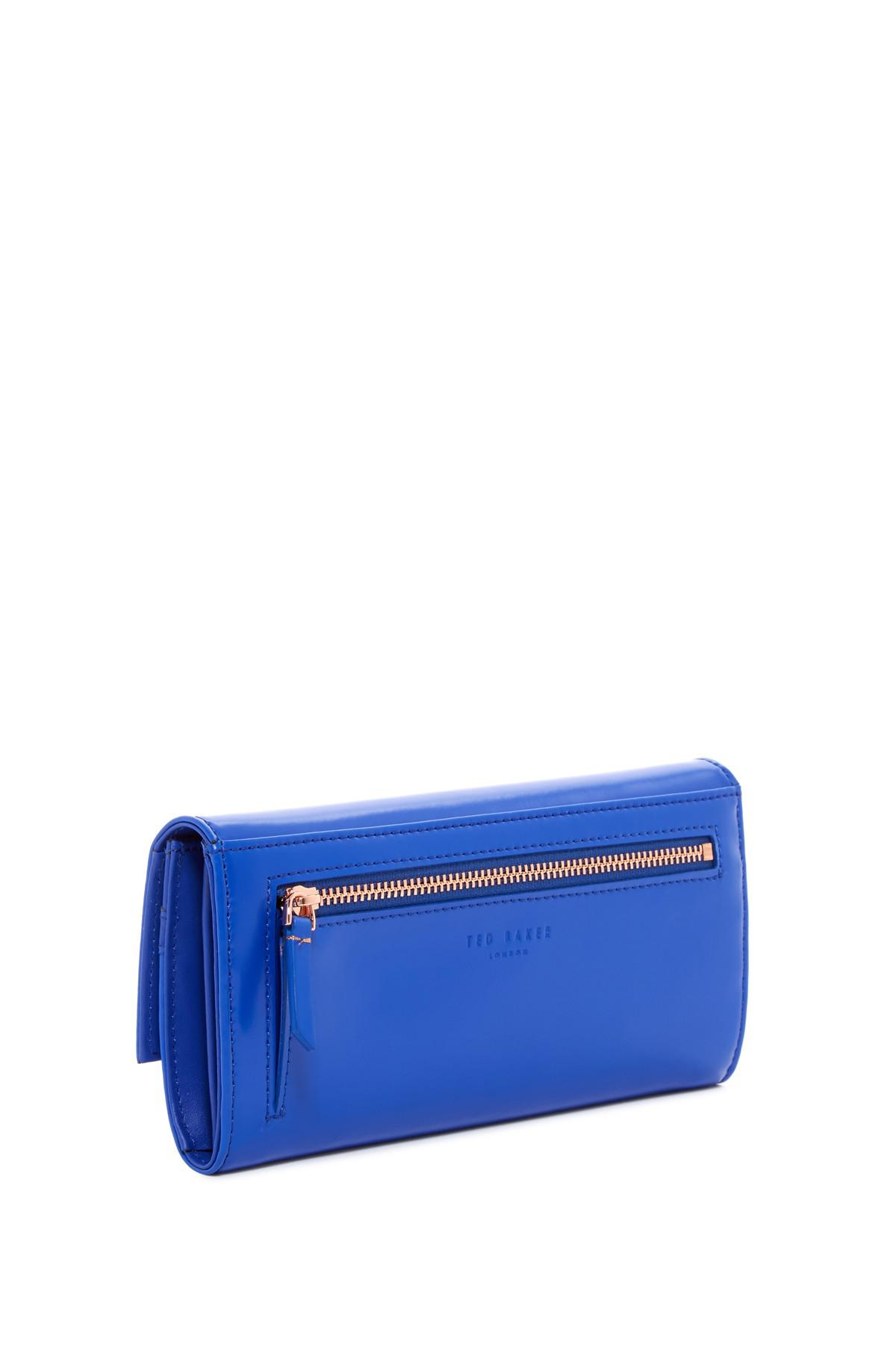 3c86690bb8c6e Lyst - Ted Baker Eleni Crystal Bobble Lock Leather Matinee Wallet in ...